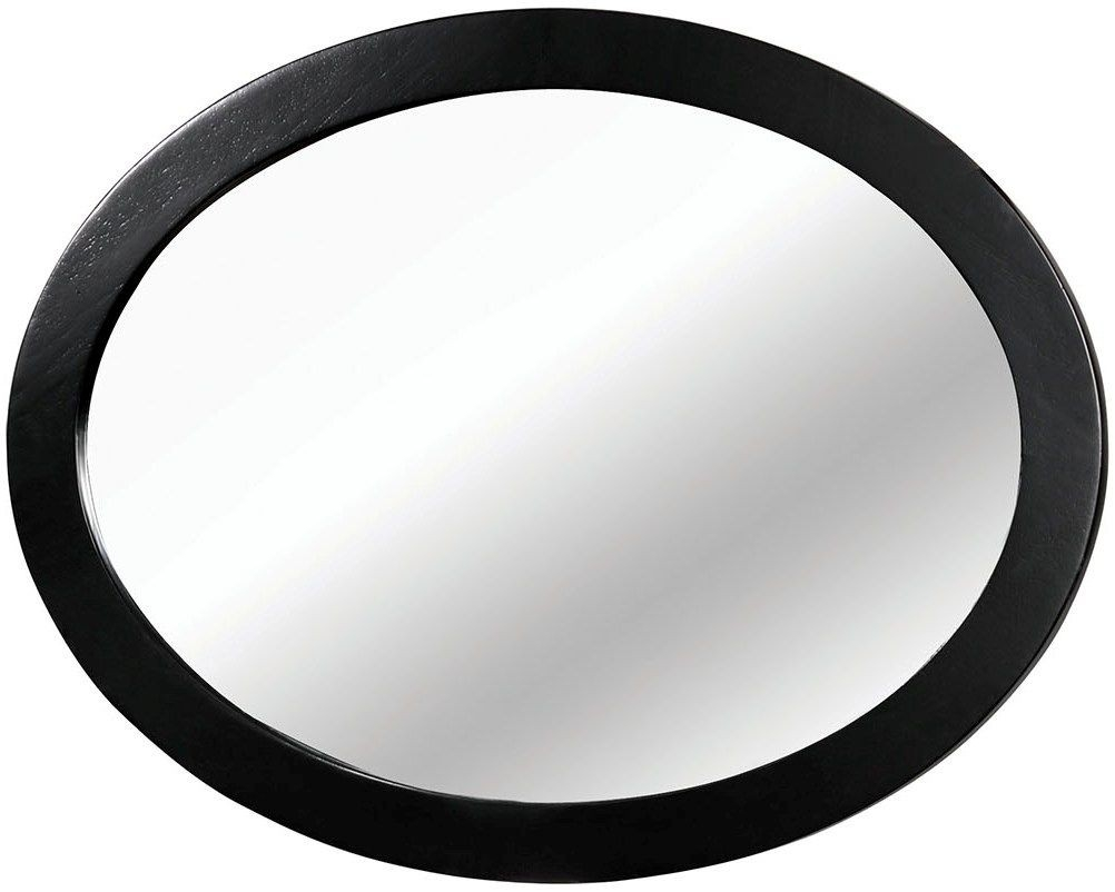 Lennart Ii Black Oval Mirror Intended For Black Oval Mirror (Image 5 of 15)