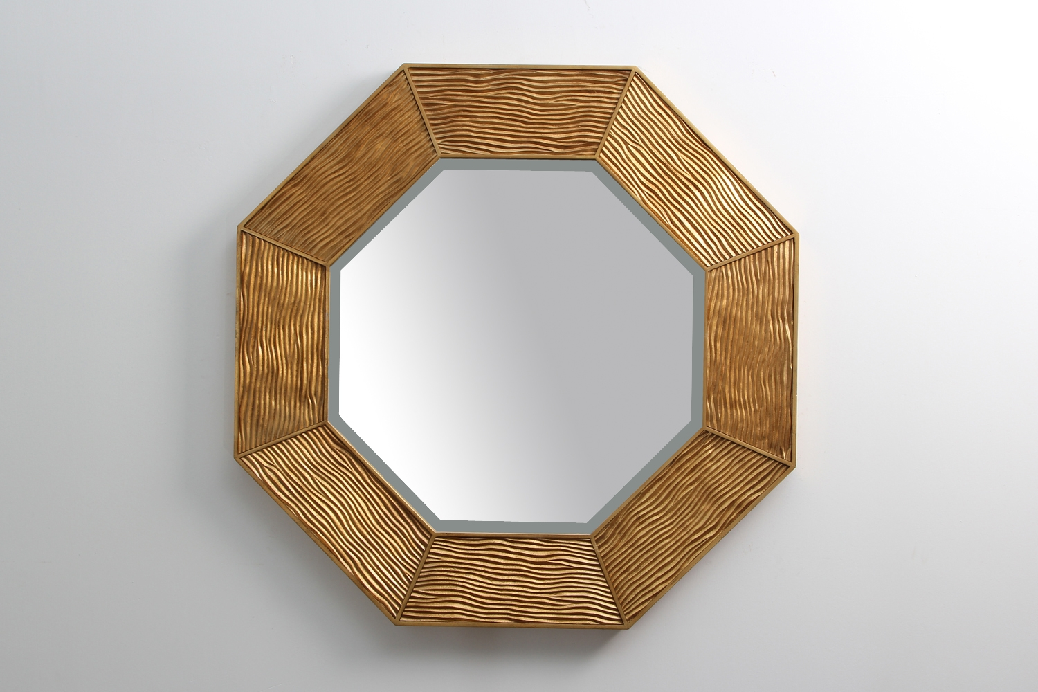 Lennox Mirror Gold Forwood Design Regarding Modern Gold Mirror (Image 9 of 15)