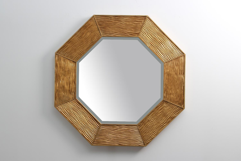 Lennox Mirror Gold Forwood Design Regarding Modern Gold Mirror (View 13 of 15)