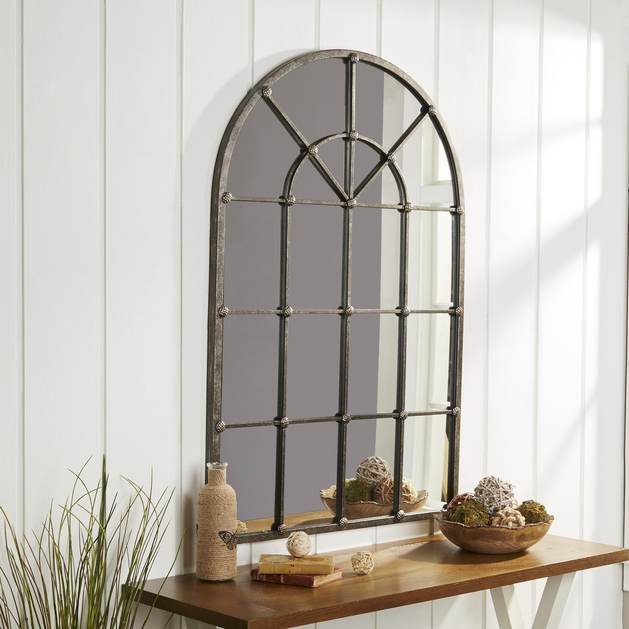 Lewis Arched Oversized Wall Mirror Reviews Joss Main Throughout Arched Wall Mirrors (View 10 of 15)