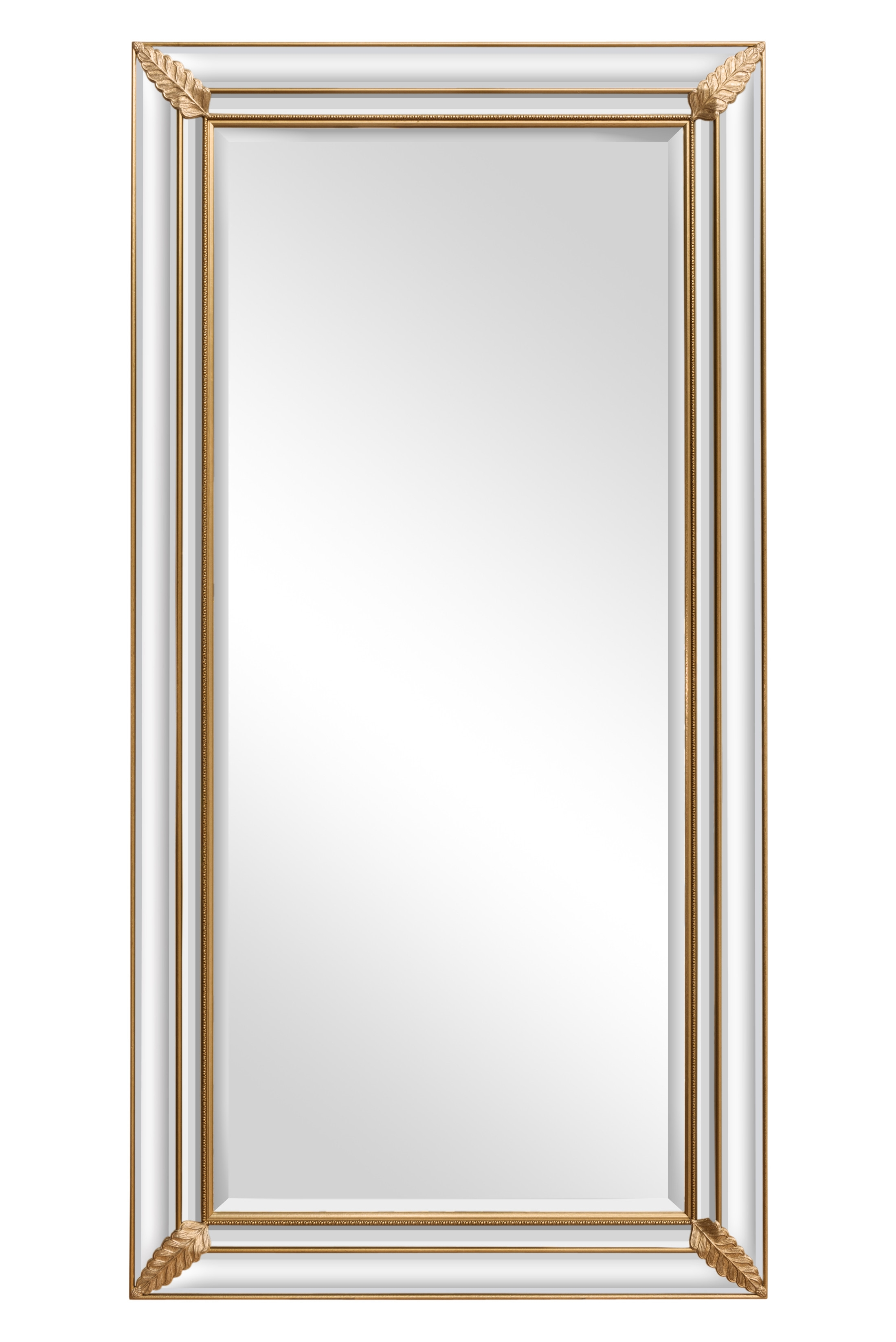 Featured Image of Long Gold Mirror
