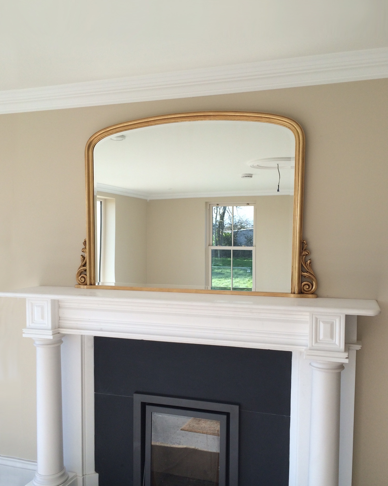 Libov0 Gold Overmantel Gold Mirrors For Sale Panfili Mirrors With Overmantel Mirror (Image 7 of 15)
