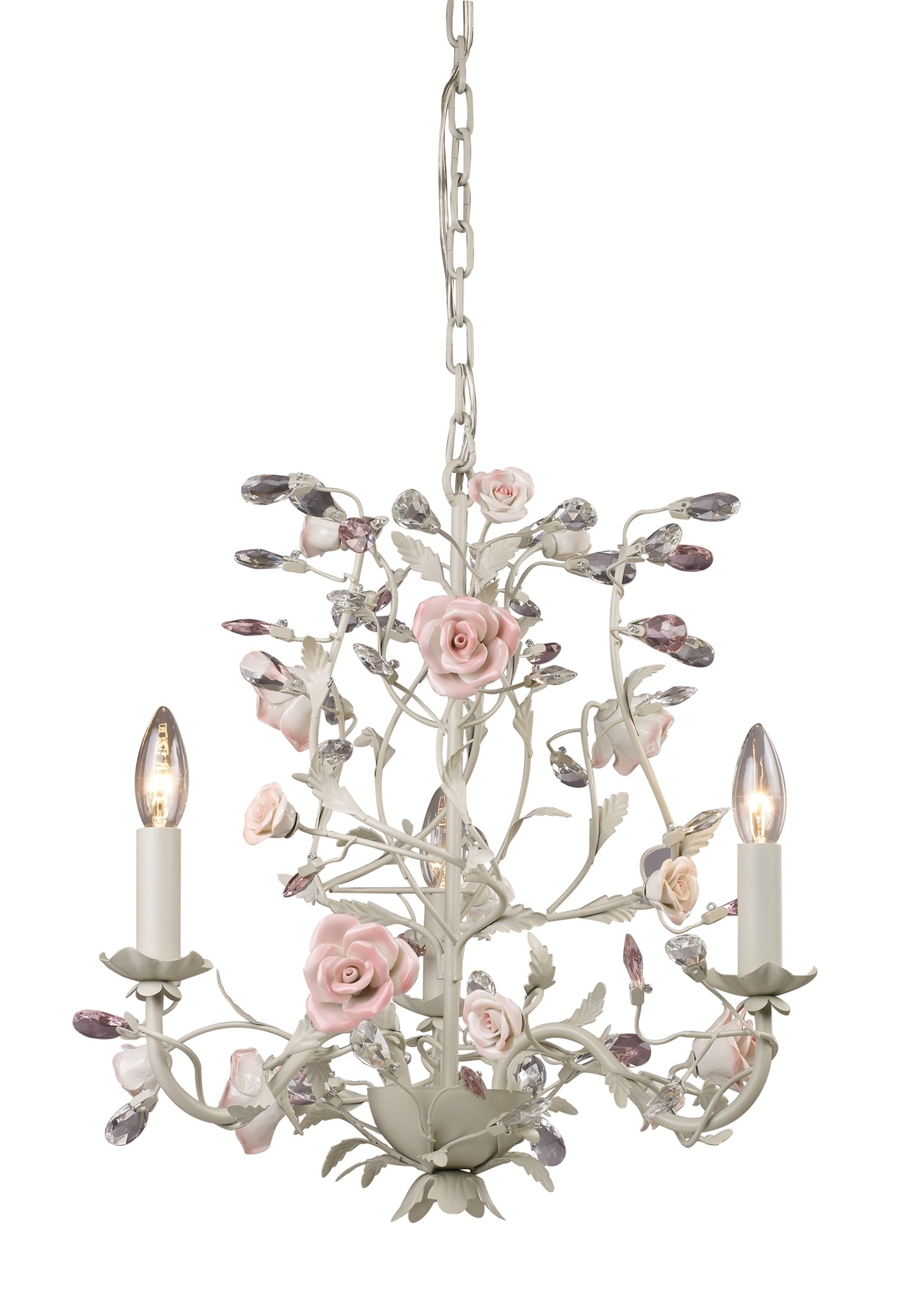 Light Flower Chandelier Would Love This For My Office Inside Shabby Chic Chandeliers (View 2 of 15)