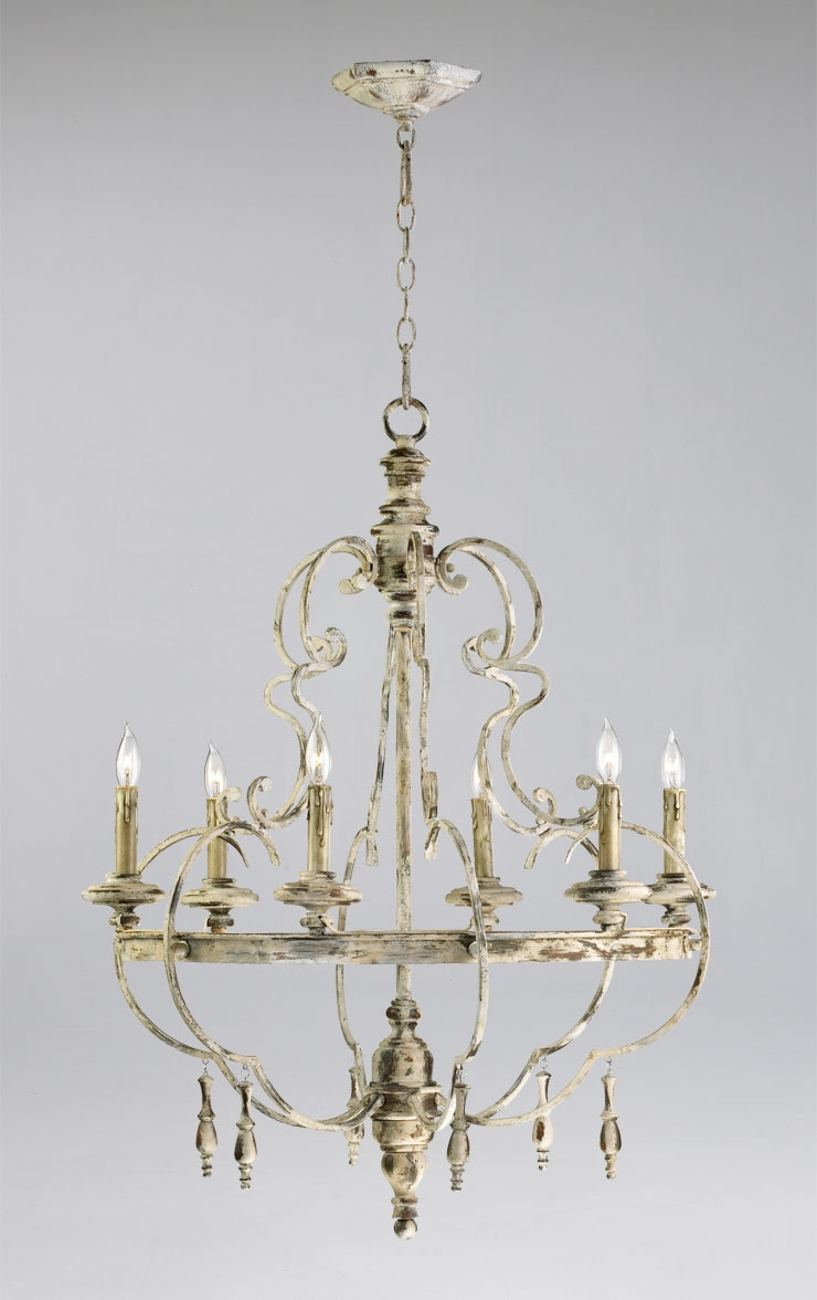Light French Country Style Dining Room Chandelier Iron Amp Wood With French Wooden Chandelier (Image 9 of 15)
