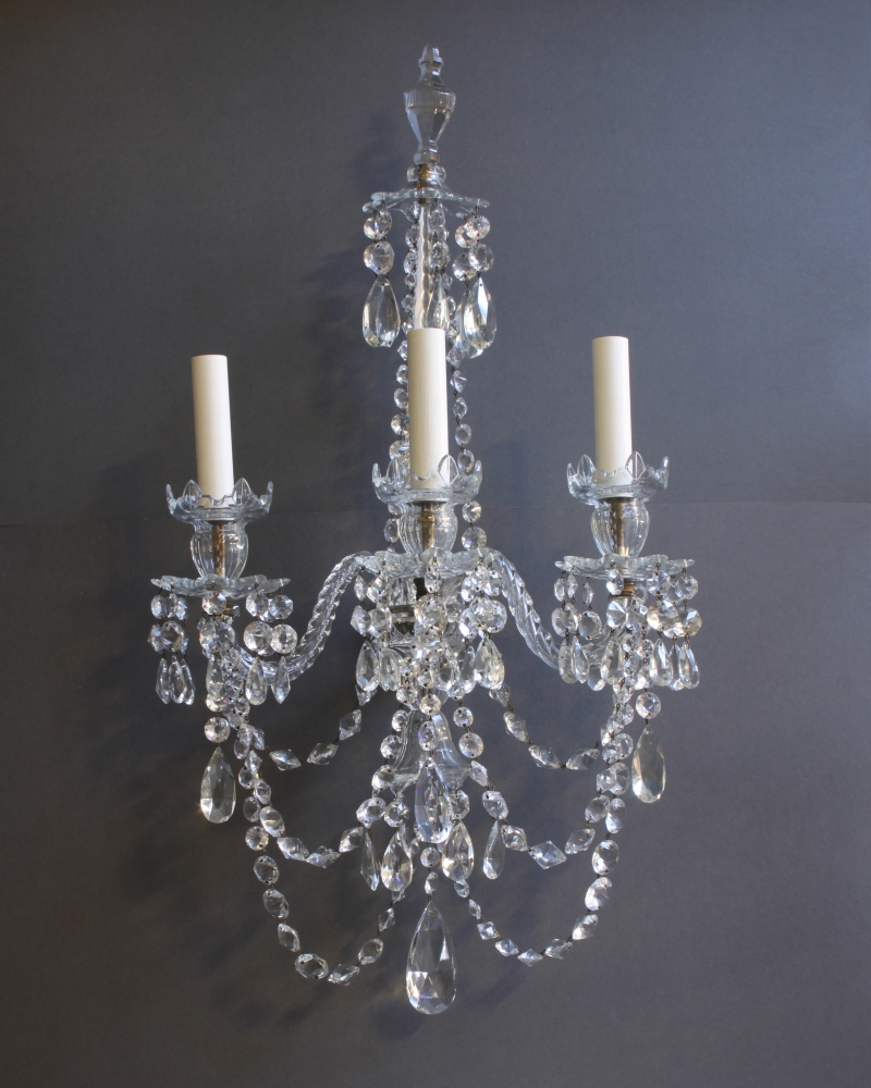 Lighting Bronze Chandelier With Crystals Big Chandeliers Light Intended For Chandelier Wall Lights (Image 5 of 15)
