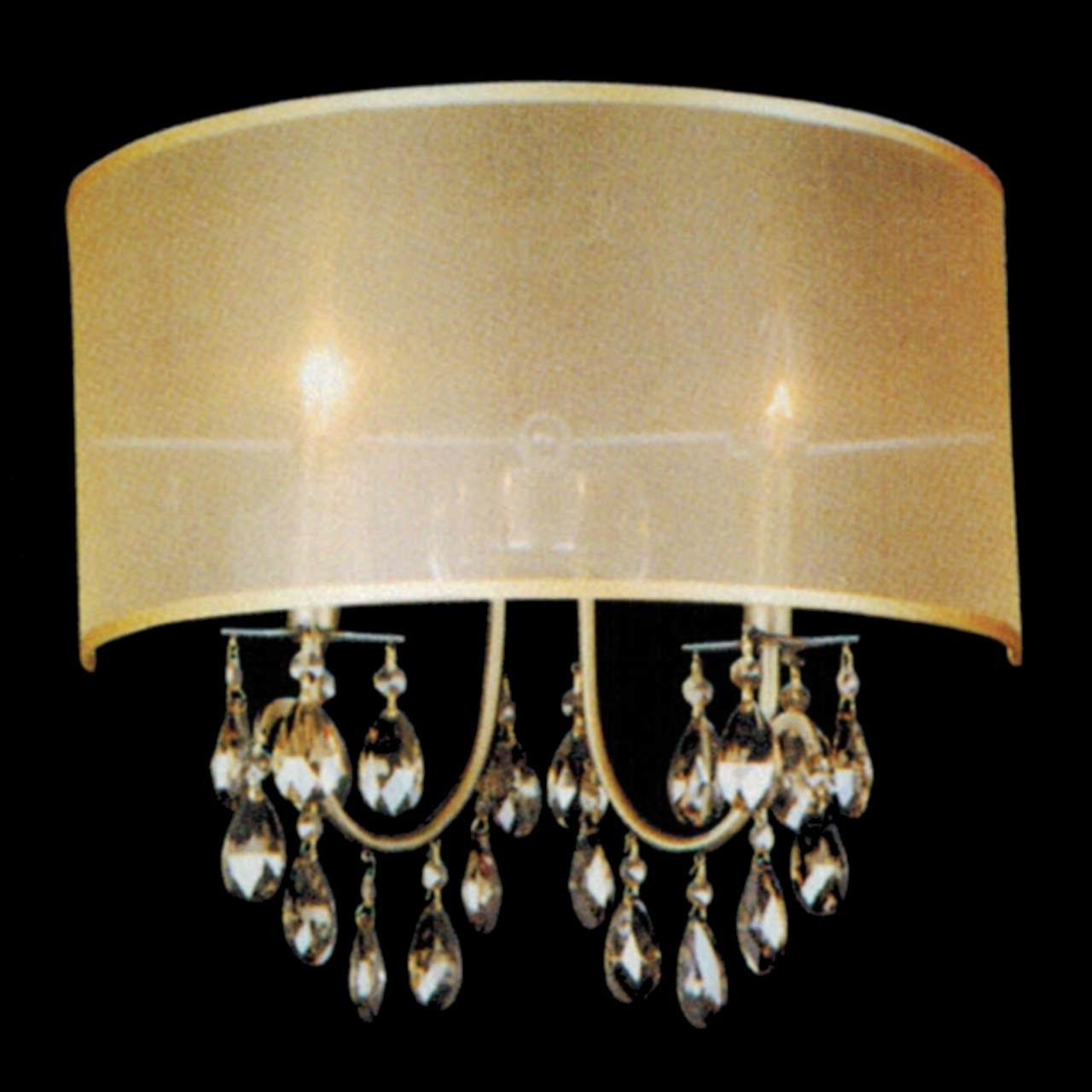 Lighting Bronze Chandelier With Crystals Modern Lighting Crystal Regarding Chandelier Wall Lights (Image 6 of 15)