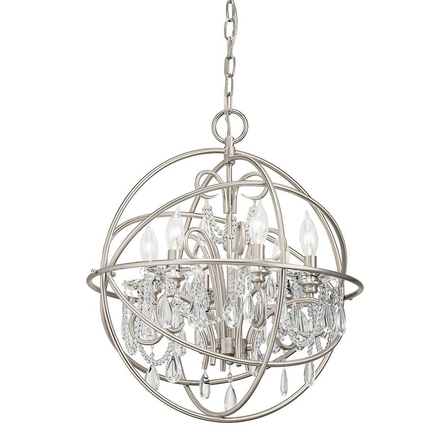 Lighting Chandeliers Beautiful Crystal Globe With Globe With Regard To Crystal Globe Chandelier (Image 12 of 15)