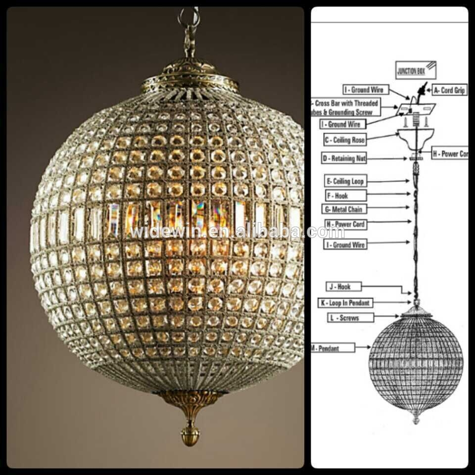 Lighting Interesting Globe Chandelier For Placed Modern Living In Crystal Globe Chandelier (Image 13 of 15)