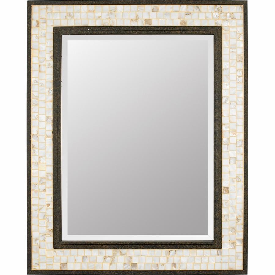 Lighting My430241ml Monterey Mosaic Mirror In Dark Bronze Base With Regard To Bronze Mosaic Mirror (Image 12 of 15)