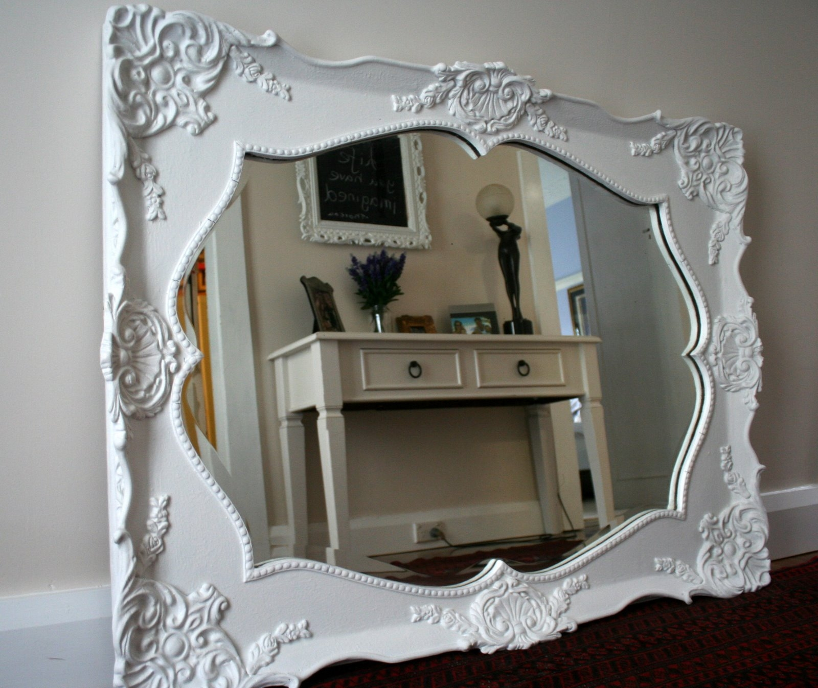 Lilyfield Life Divine Ornate Mirror With White Ornate Mirror (Image 8 of 15)