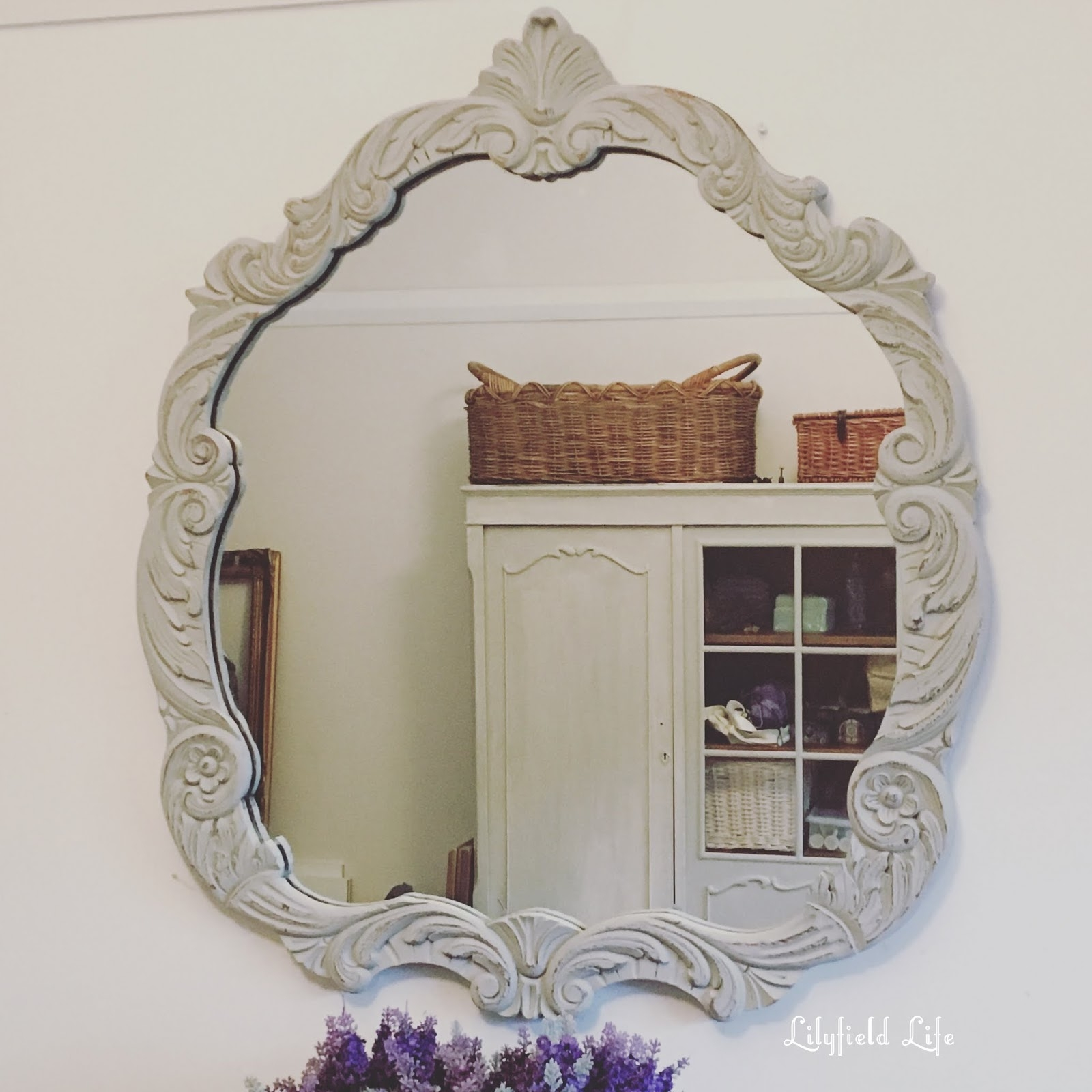 Lilyfield Life Gorgeous Painted Vintage Mirrors Within Vintage Mirrors (Image 9 of 15)