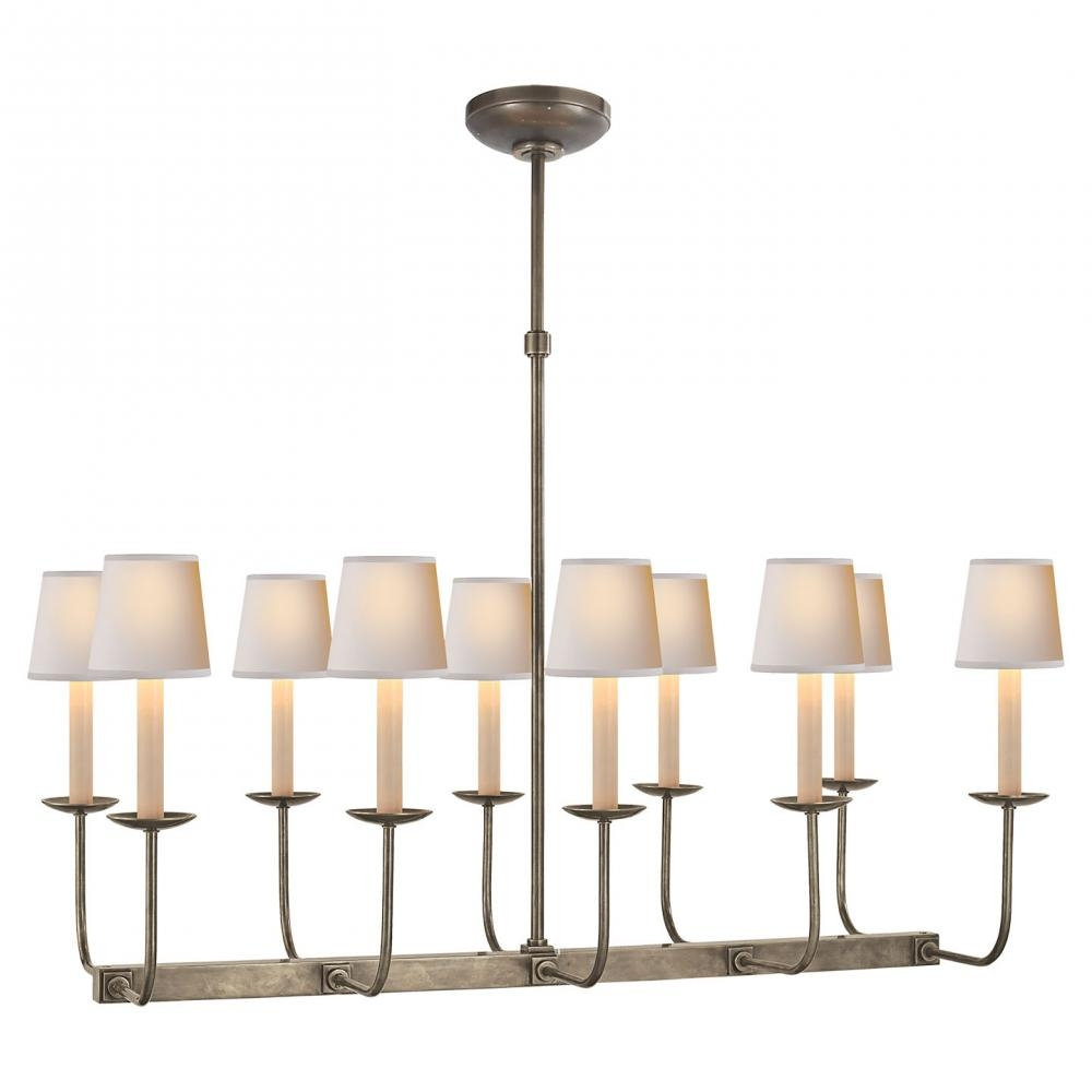Linear Branched Chandelier In Antique Nickel Sl 5863an Suffolk For Branched Chandelier (Image 6 of 15)