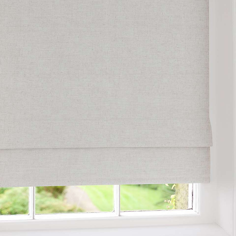 Linen Blackout Roman Blind Dunelm Best Blackout Curtains Intended For Roman Blinds With Blackout Lining (Image 7 of 15)