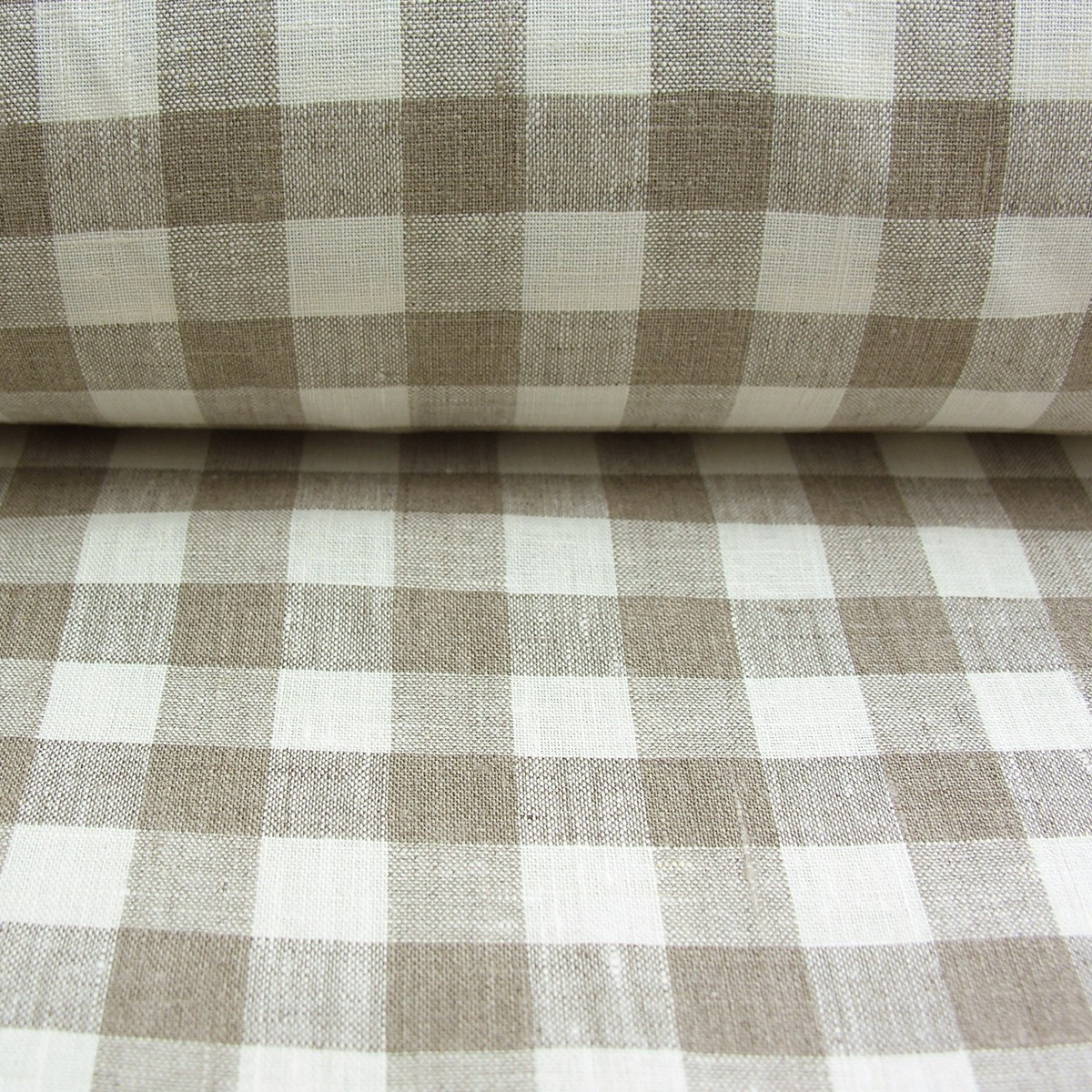 Linen Check Fabric Pertaining To Linen Fabric For Curtains (Image 7 of 15)