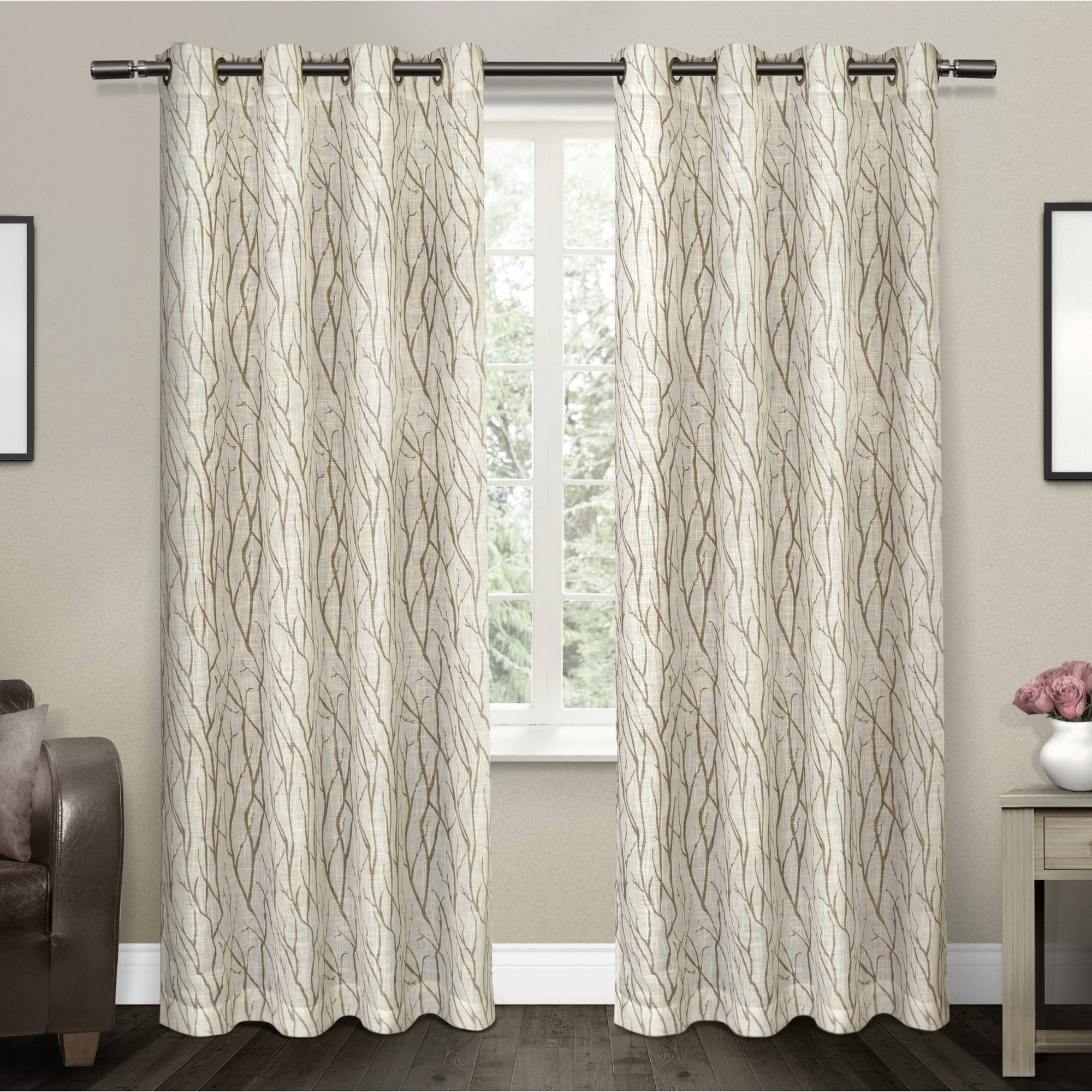 Linen Curtains Throughout Textured Linen Curtains (Image 9 of 15)