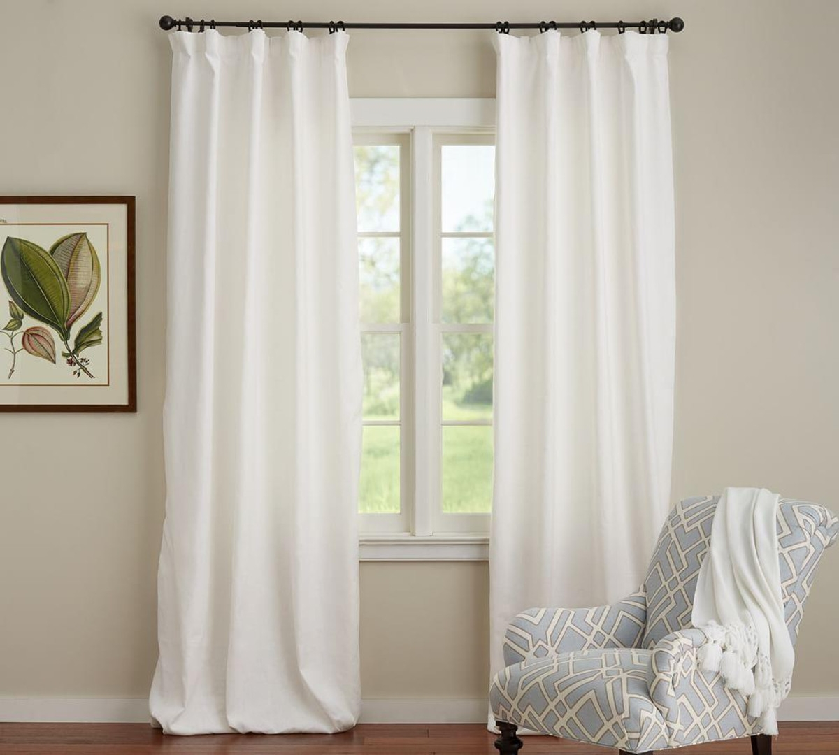 Linen Drapes Lined Business For Curtains Decoration With Regard To Lined Cotton Curtains (Image 11 of 15)