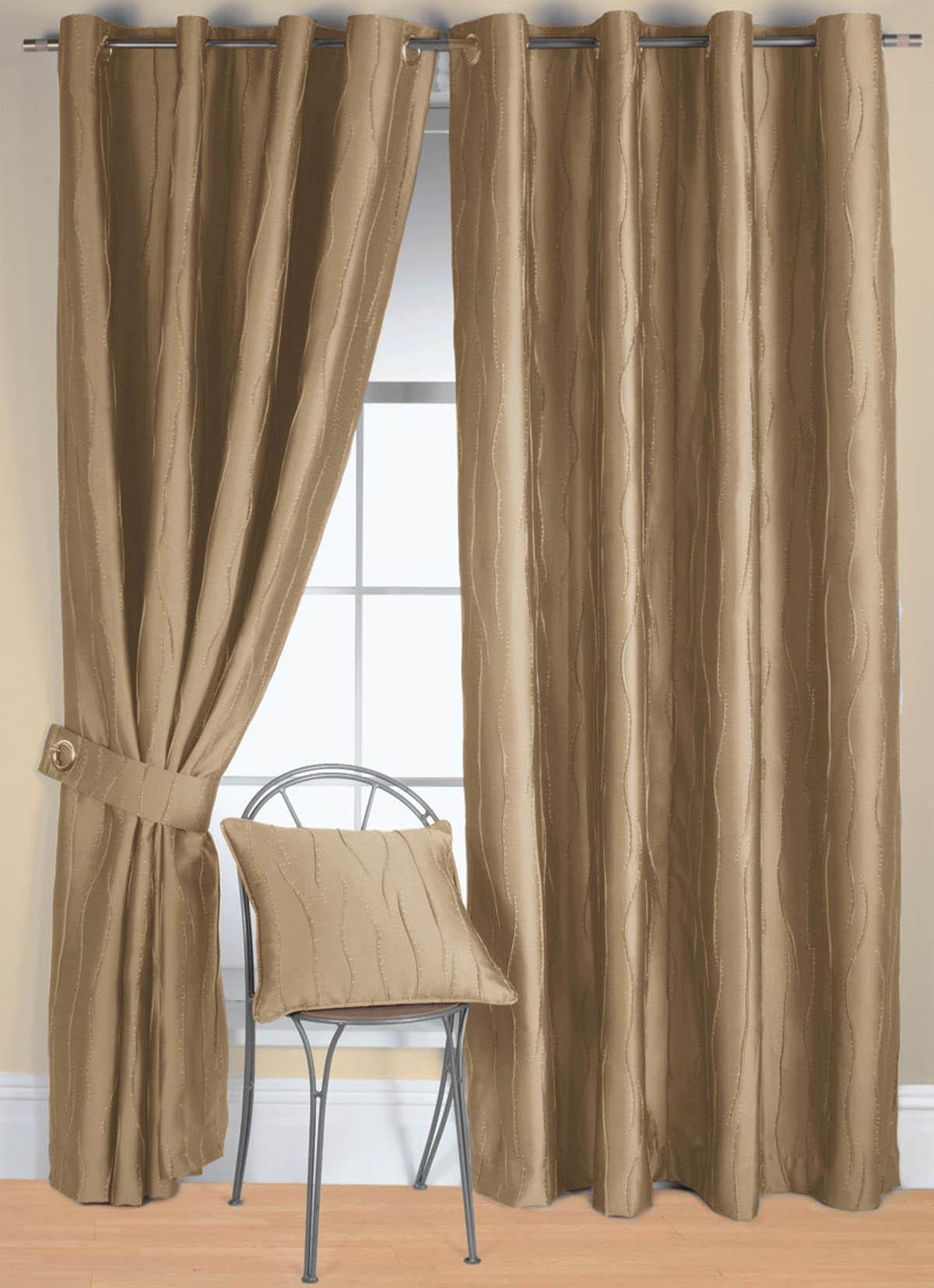 Linen Jazz Ready Made Eyelet Curtain Free Uk Delivery Terrys With Cream And Gold Eyelet Curtains (Image 12 of 15)