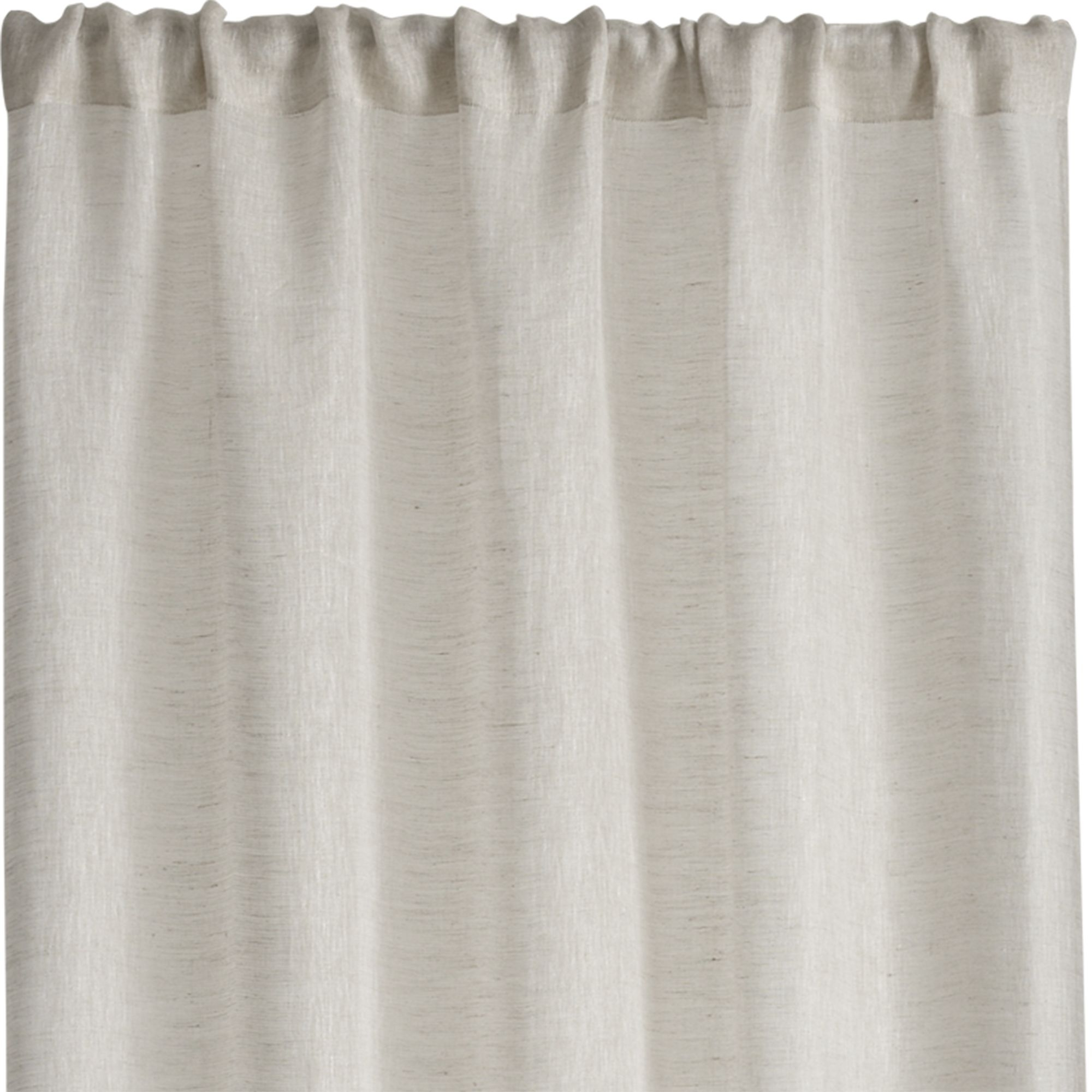 Linen Sheer 52×84 Natural Curtain Panel Natural Linen Natural With Regard To Natural Curtain Panels (View 15 of 15)