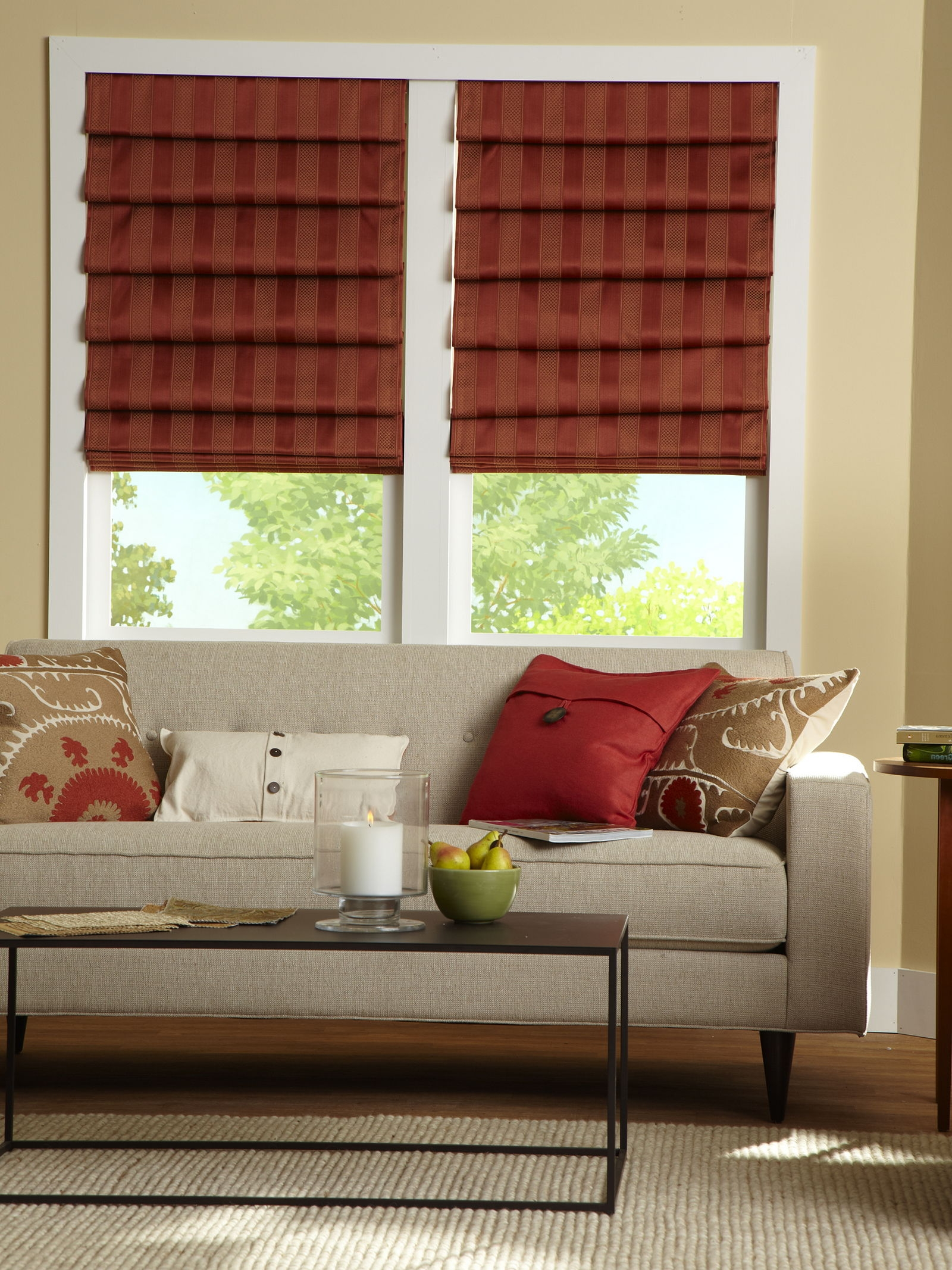 15 Collection Of Front Room Blinds Curtain Ideas