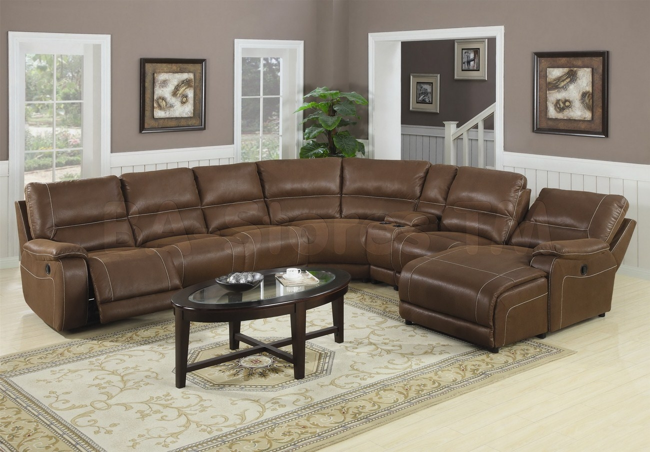 Living Room Extra Large Leather Sectional Sofa With Recliners With Coffee Table For Sectional Sofa With Chaise (Image 12 of 15)