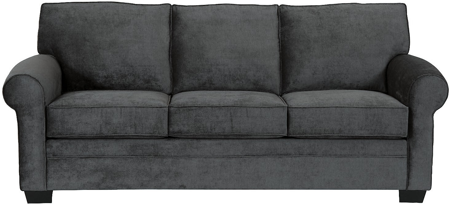 Living Room Furniture Designed2b Dov Chenille Sofa Charcoal Pertaining To Brick Sofas (Image 7 of 15)