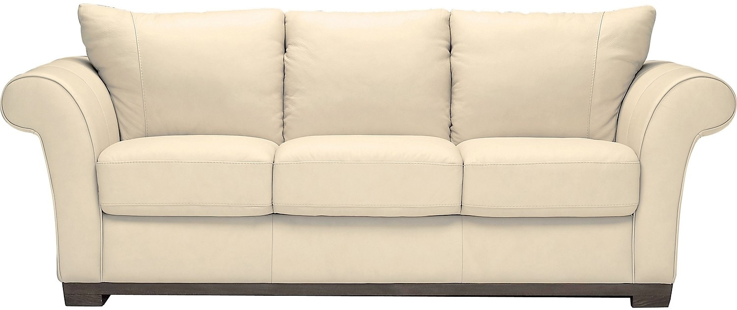 Living Room Furniture Layla Genuine Leather Sofa Ivory Home For Brick Sofas (Image 8 of 15)