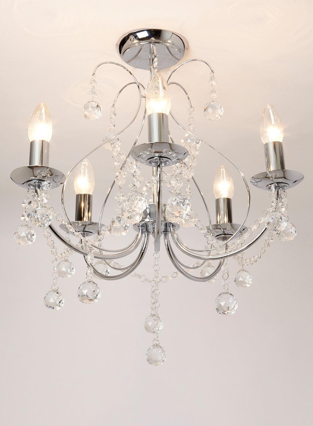 Living Room Light For The Home Pinterest Vintage Style In Flush Chandelier (Image 11 of 15)