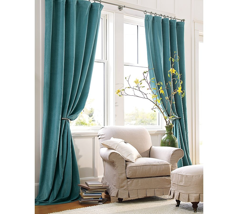 Living Room Mink Velvet Velvet Curtains With White Wall Design With Regard To White Velvet Curtains (View 6 of 15)