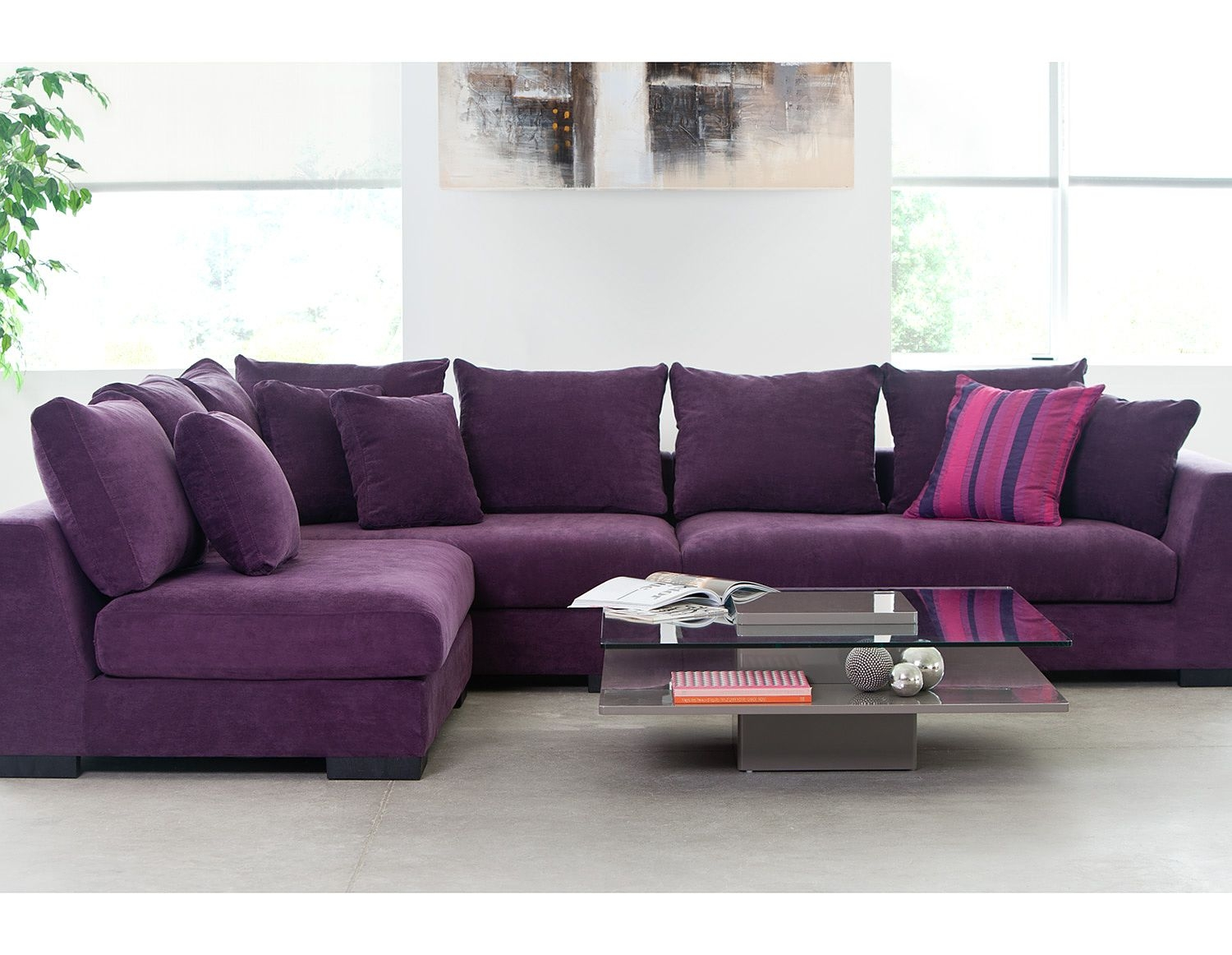 Exceptional Living Room Sectional Sofas Cooper Purple Faints A Couch With Regard To Eggplant  Sectional Sofa (
