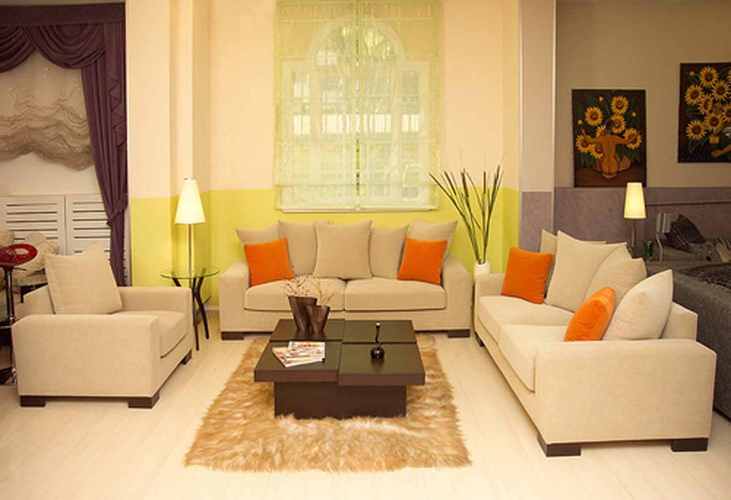 Living Room Small Living Room Furniture Ideas Cream Color L In Cream Colored Sofas (View 7 of 15)