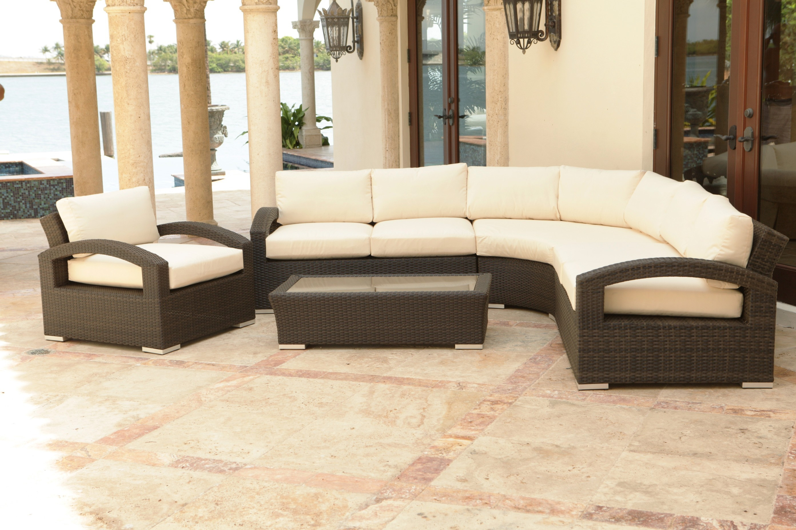 Living Room Splendiferous Saddle Brown Leather Sectional Couch Intended For Durable Sectional Sofa (Image 12 of 15)