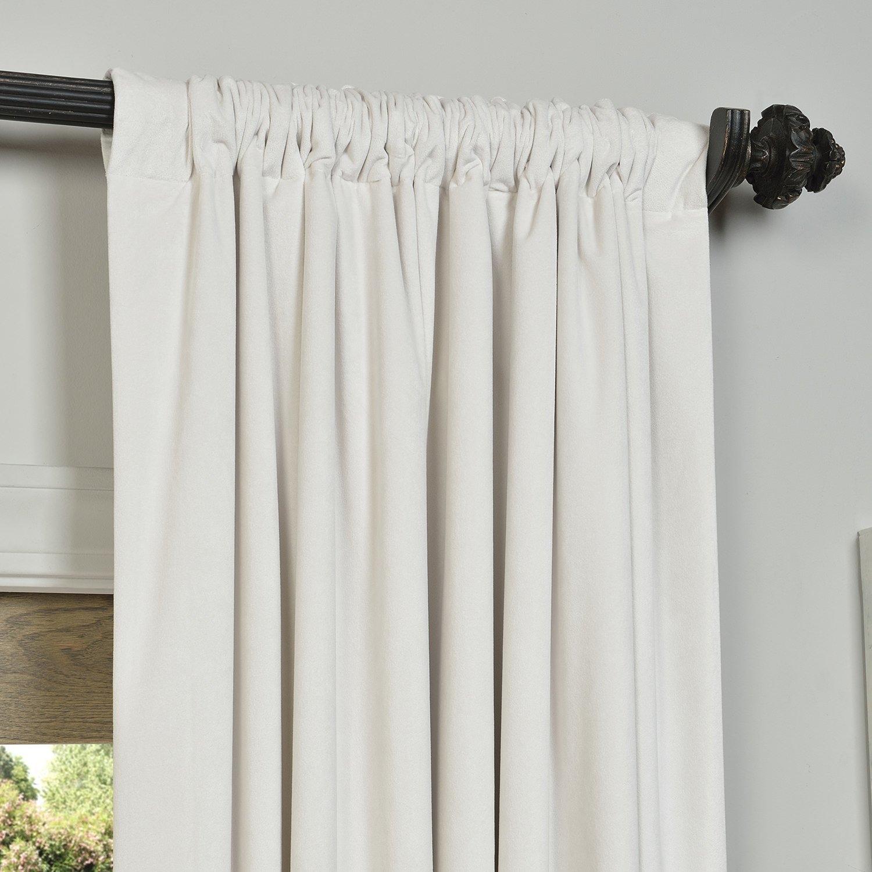 Living Room White Velvet Curtains With White Wall Design And Regarding White Velvet Curtains (Image 11 of 15)