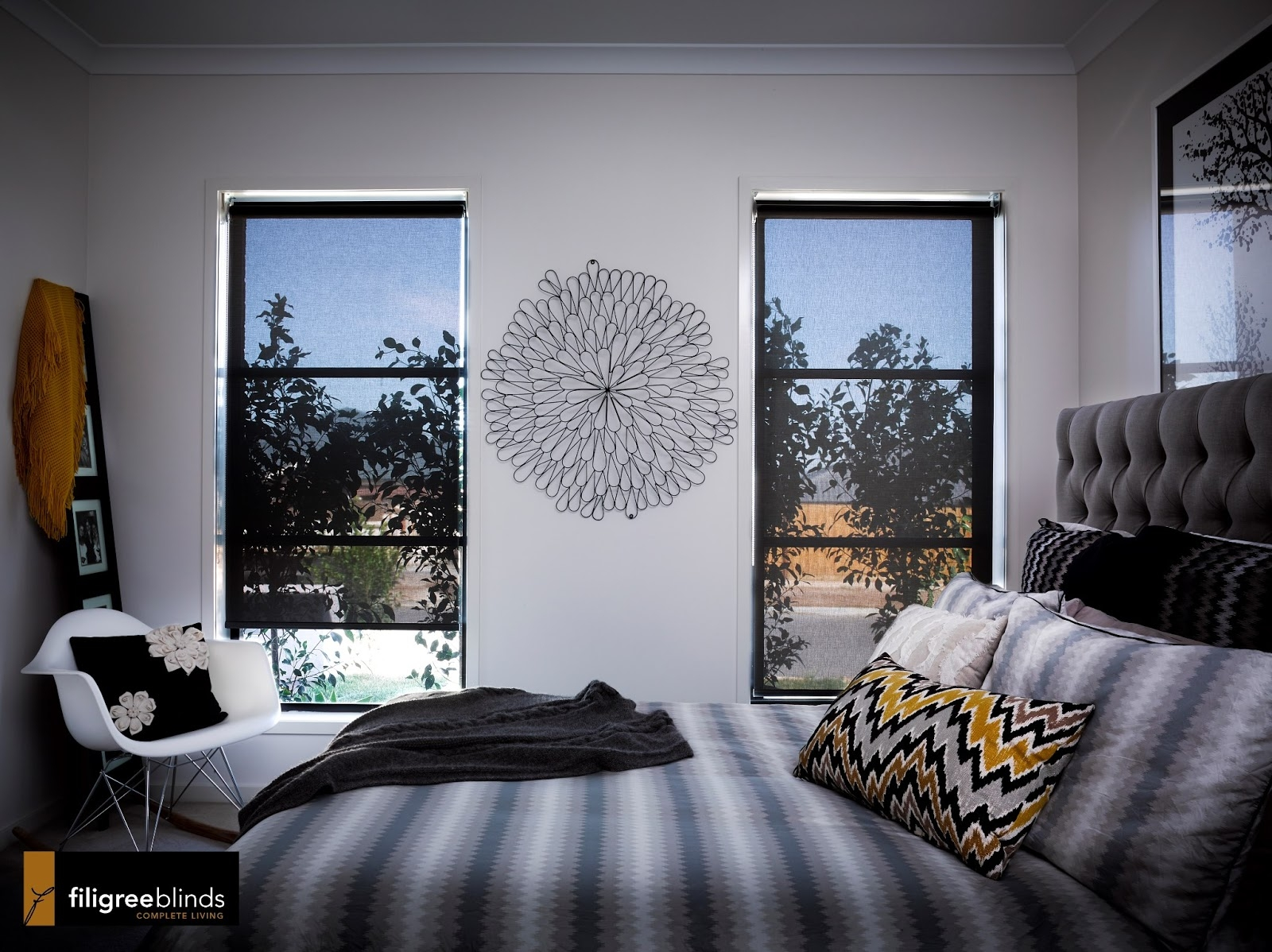 Location Location Location And Good Window Coverings Custom Inside Sheer Roller Blind (Image 5 of 15)