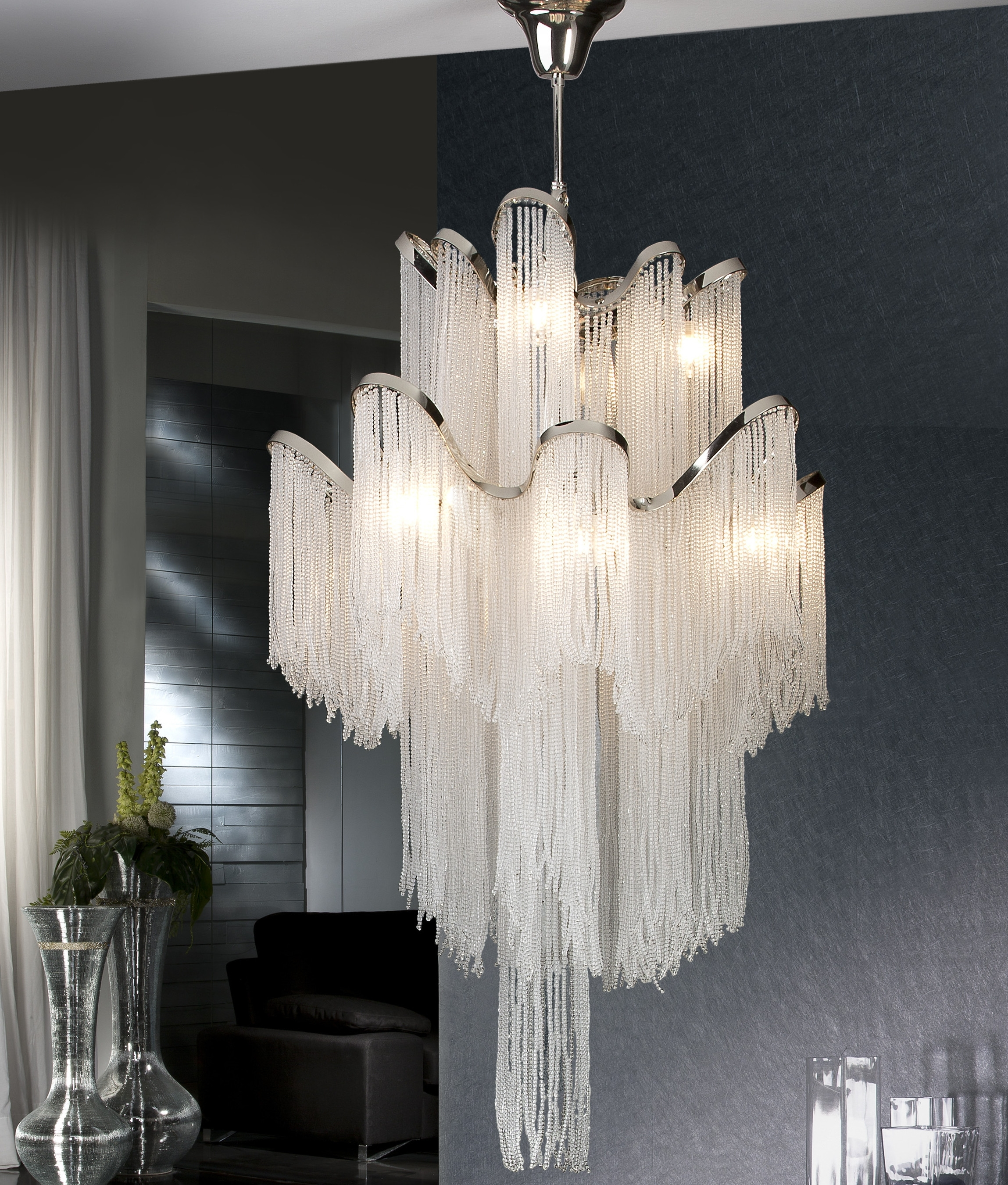 Long Drop Chandeliers For Commercial Spaces Lighting Styles With Long Chandelier Lighting (Image 12 of 15)