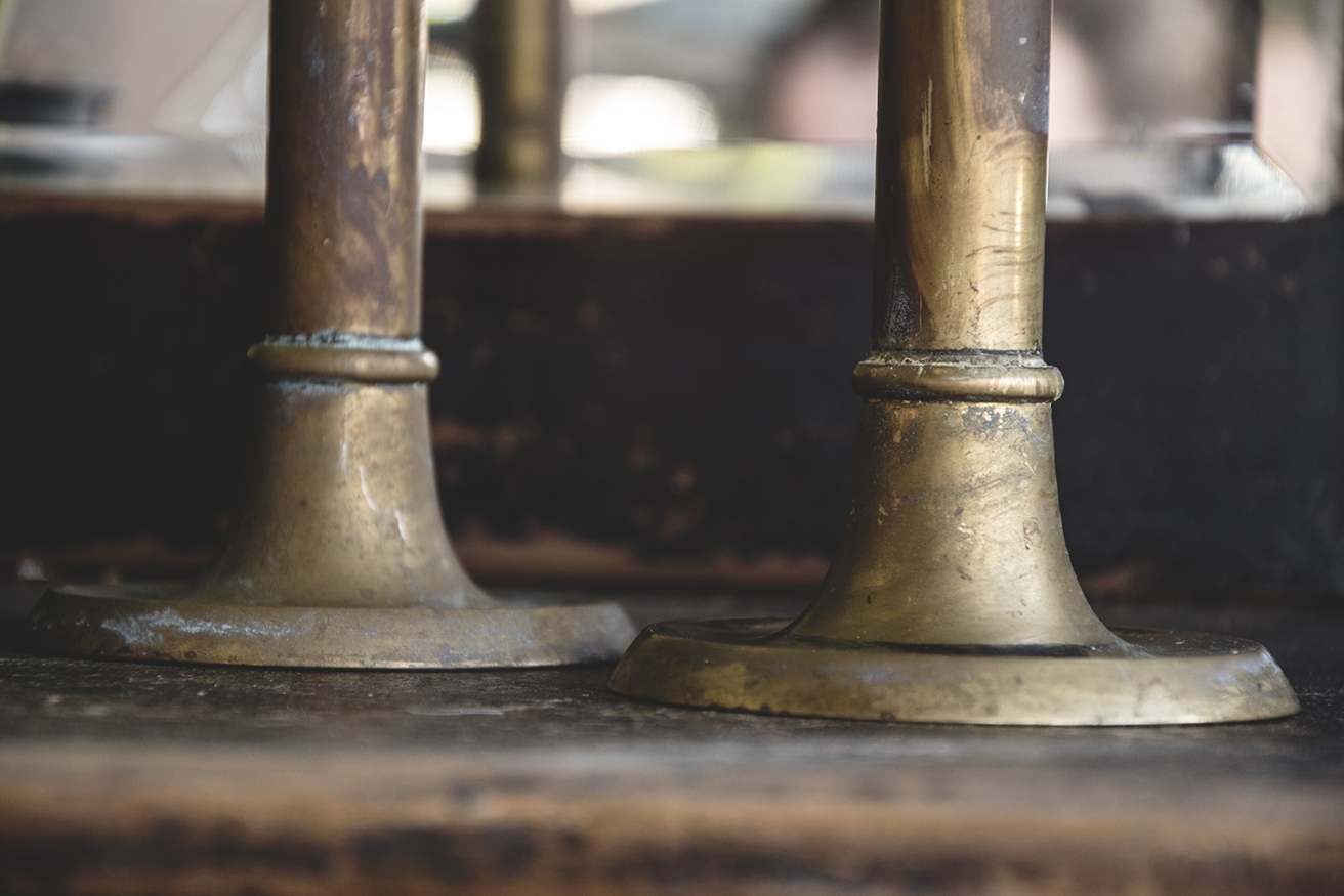 Long Thin Brass Candlesticks The Hoarde Intended For Long Thin Mirrors (View 13 of 15)