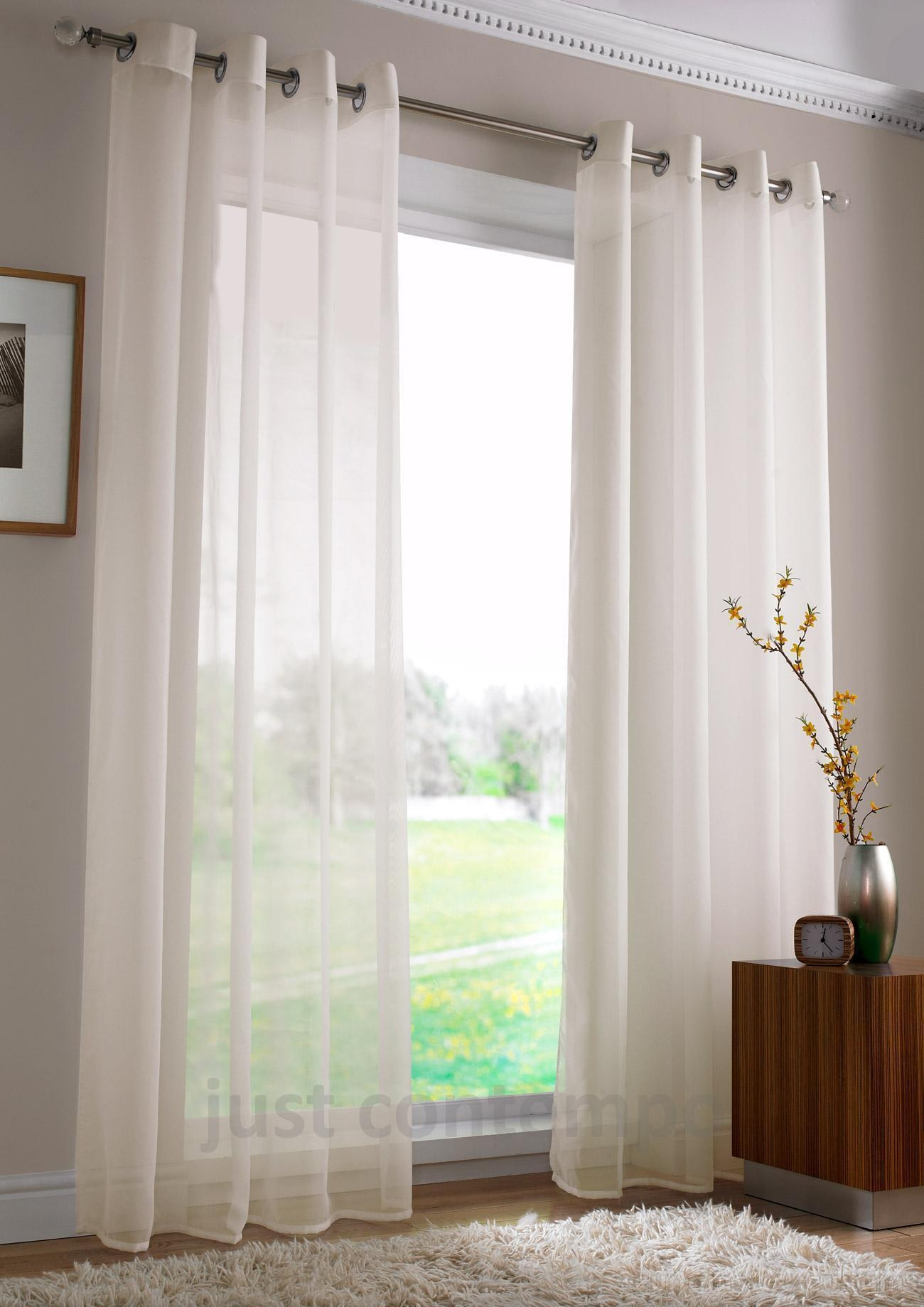 Long Voile Curtains Intended For Extra Long Voile Curtains (Image 10 of 15)