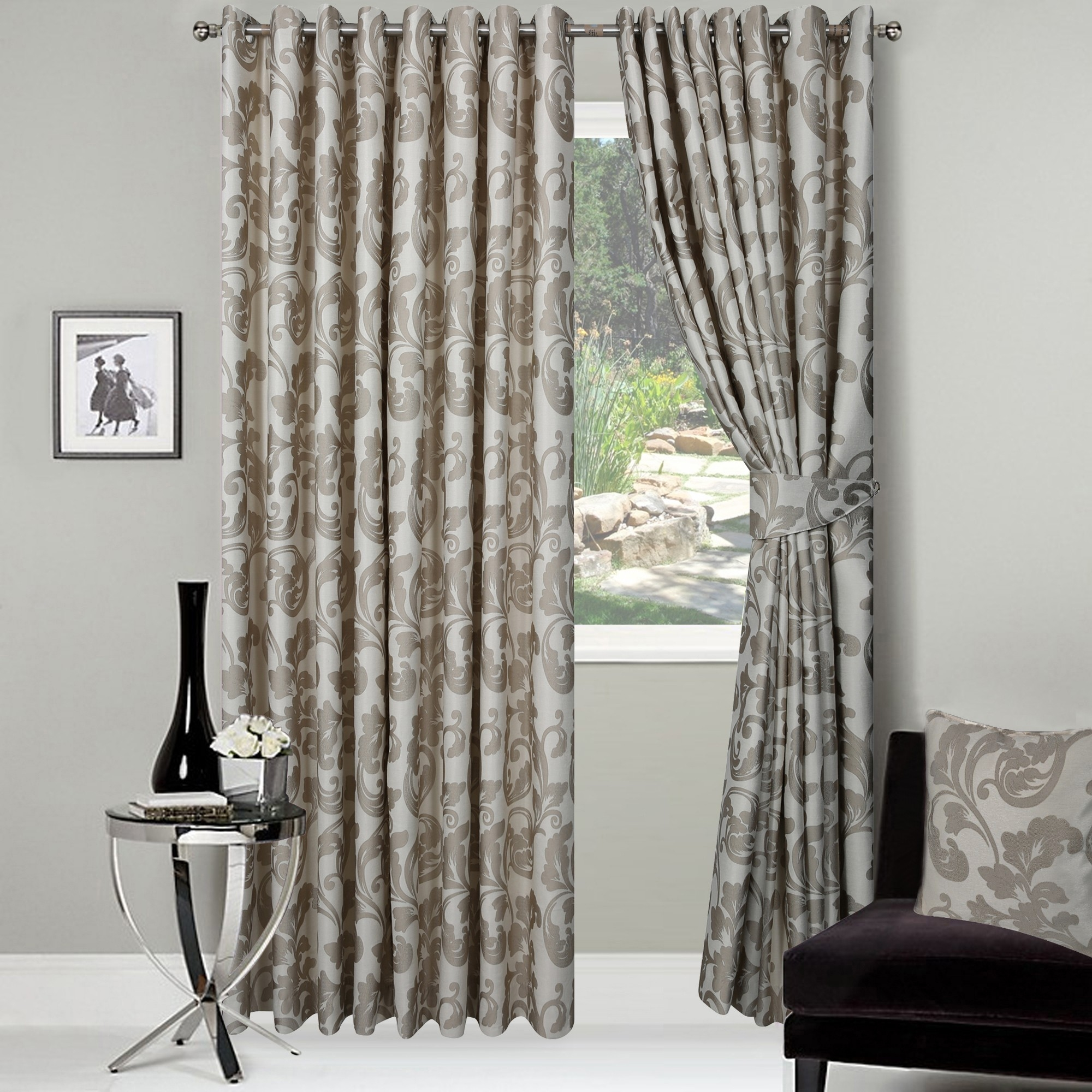 Long Wide And Bay Window Curtains Providing Hard To Get Curtain With Regard To Ready Made Curtains For Bay Windows (Image 9 of 15)