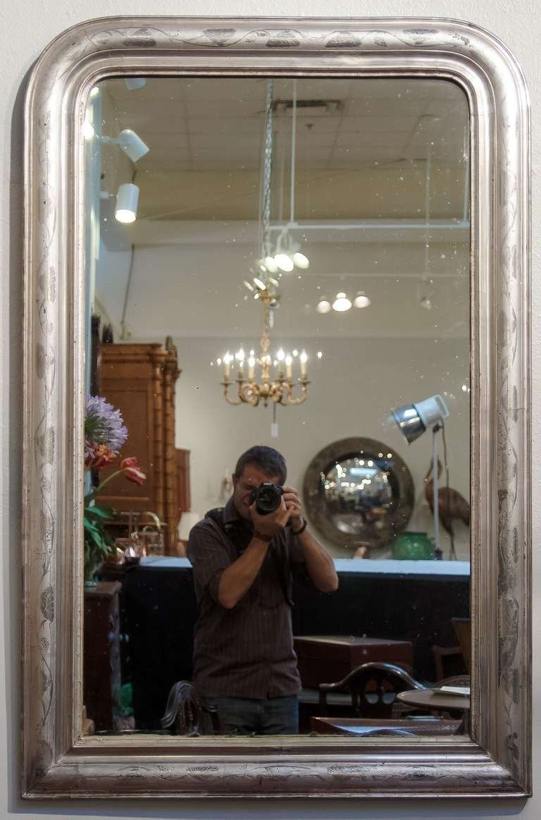 Louis Philippe Large Silver Gilt Mirror For Sale At 1stdibs Regarding Large Bevelled Edge Mirror (Image 10 of 15)