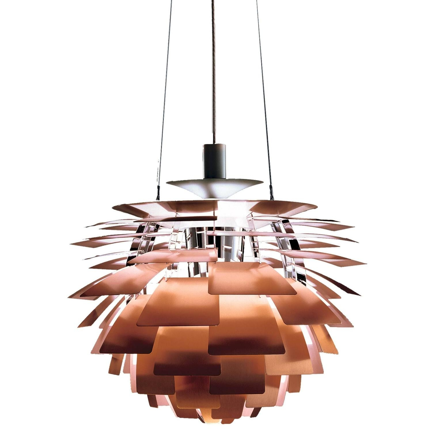 Louis Poulsen Chandeliers And Pendants 205 For Sale At 1stdibs For Copper Chandelier (Image 9 of 15)