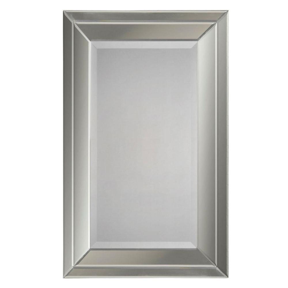 Luna 38 In X 24 In Beveled Glass Mirror Cli Fug9527318 The With Regard To Double Bevelled Mirror (Image 7 of 15)