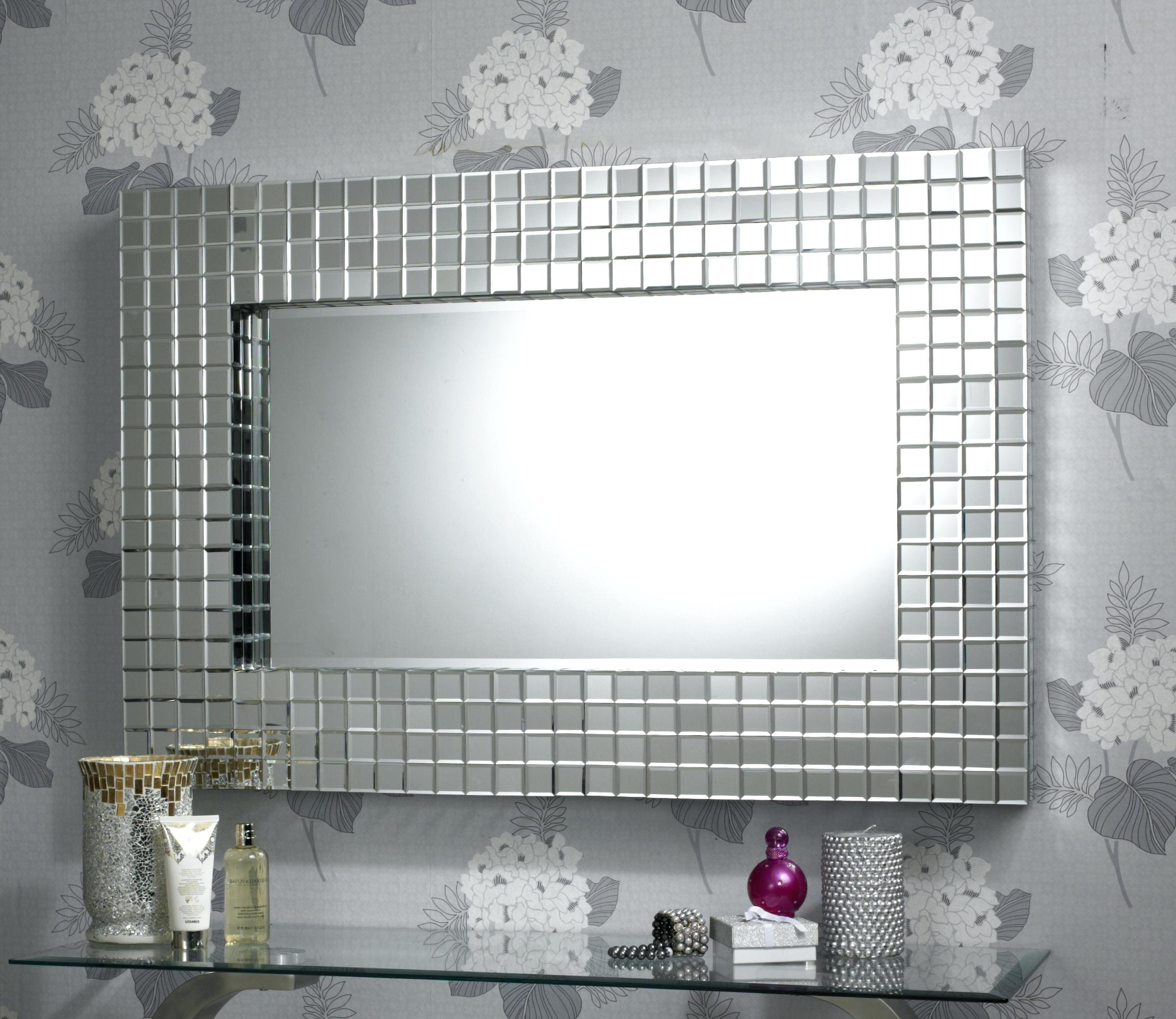 Luna X Large Modern Frameless Wall Leaner Full Length Floor Mirror With Large Contemporary Mirror (Image 12 of 15)