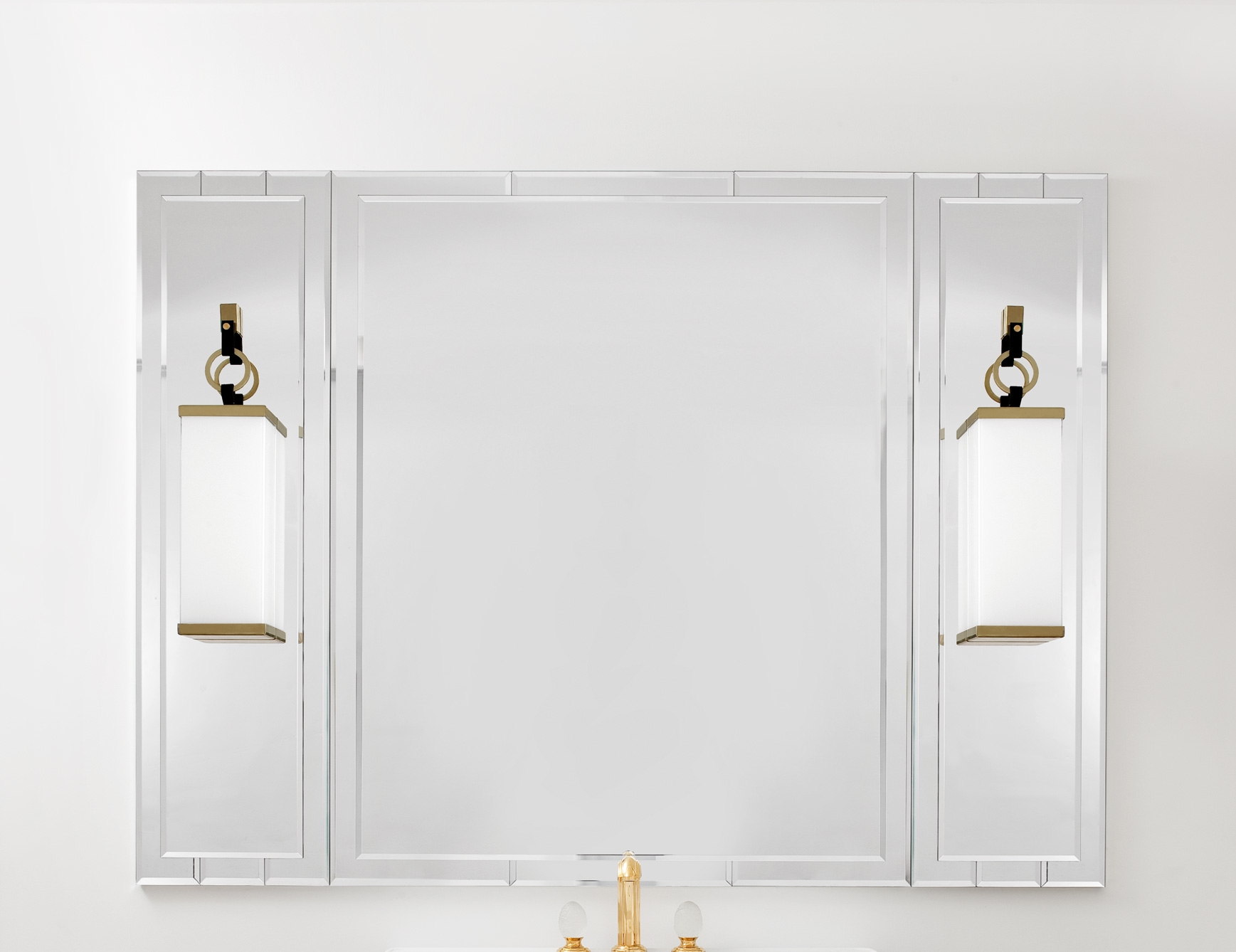 Lutetia 0ltsp170ls Luxury Art Deco Designer Bathroom Mirror Within Deco Bathroom Mirror (Image 14 of 15)