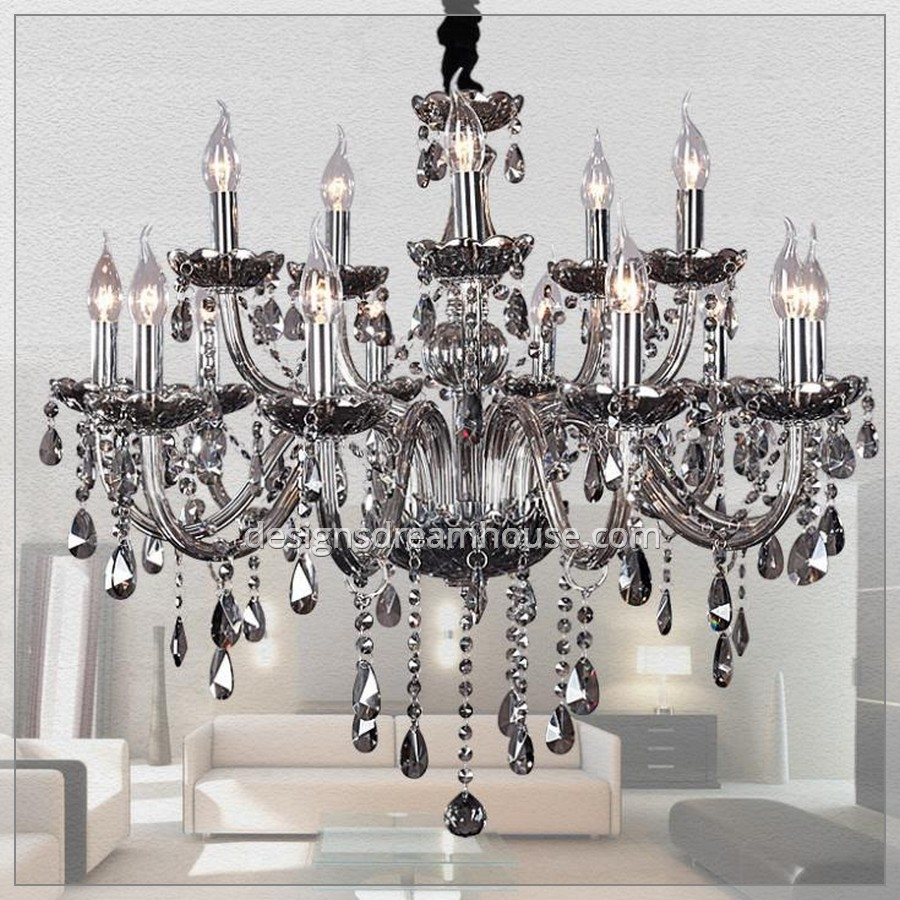 Luxury Asfour Crystal Chandelier Home Design Gallery With Grey Crystal Chandelier (Image 11 of 15)