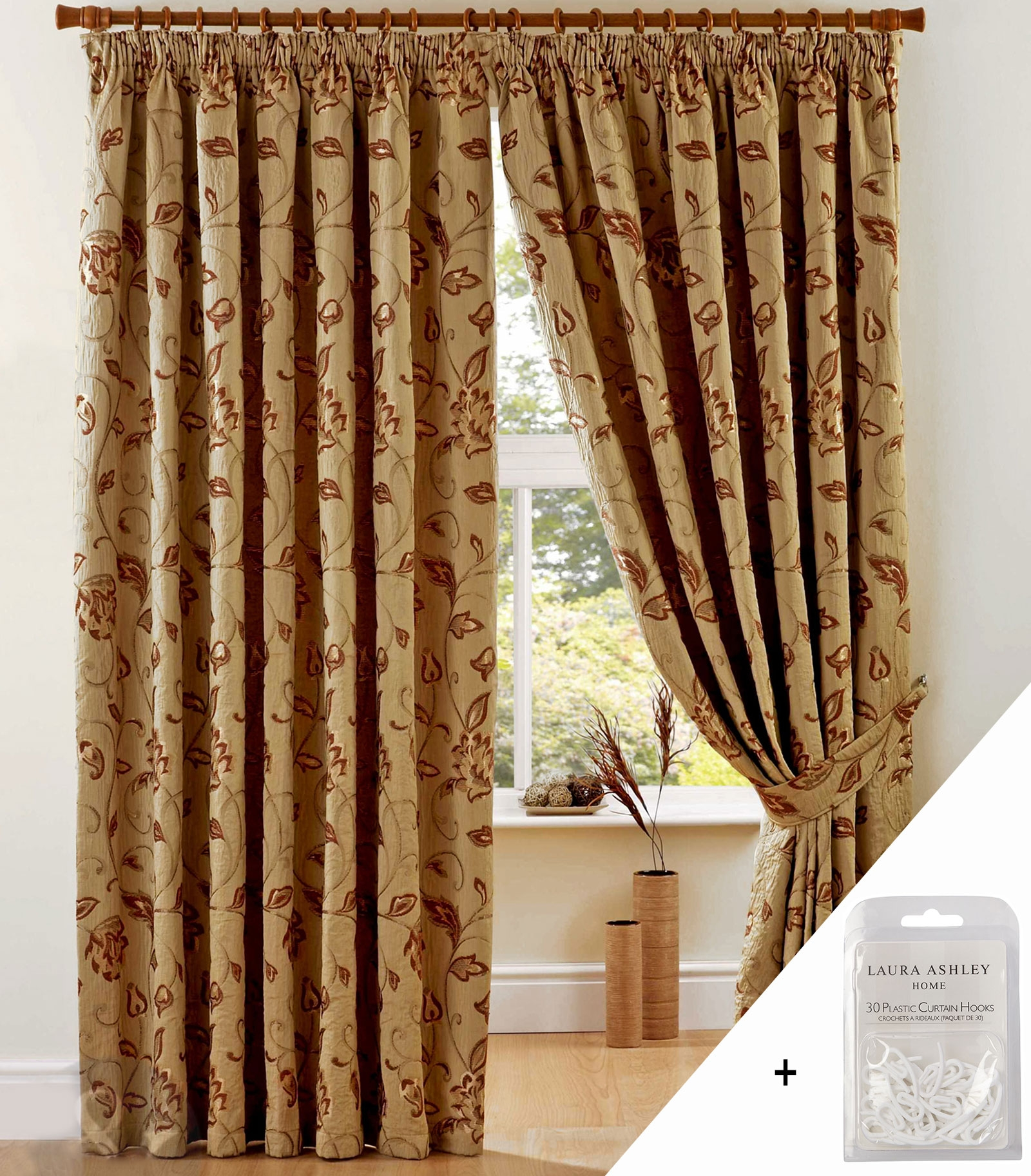 Luxury Heavy Weight Jacquard Curtains Pencil Pleat Lined Ready Inside Heavy Lined Curtains (Image 8 of 15)