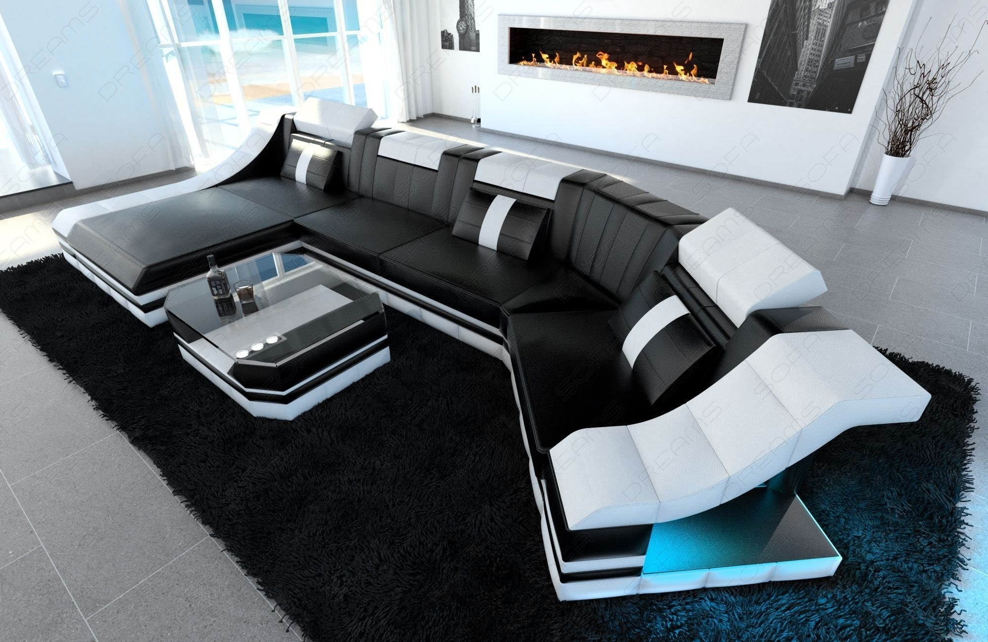 Luxury Sectional Sofa New York C Shape Led Intended For C Shaped Sectional Sofa (Image 11 of 15)