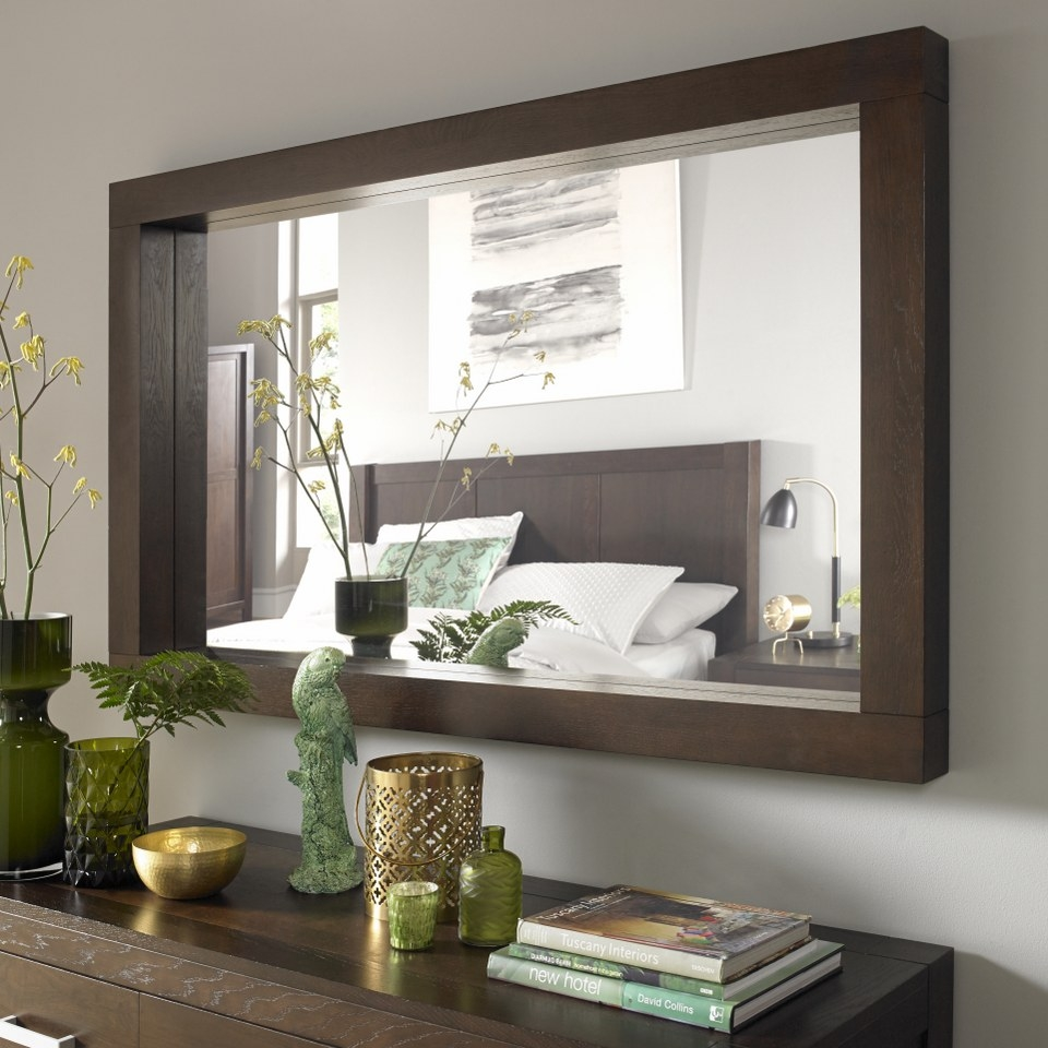 Lyon Walnut Large Landscape Mirror Bentley Designs With Regard To Large Landscape Mirror (Image 12 of 15)