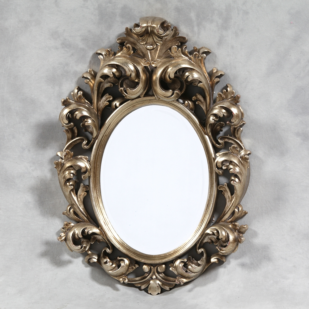 M82 Small Silver Rococo Mirror Sanding Supplies And Executive Intended For Rococo Mirror (Image 13 of 15)
