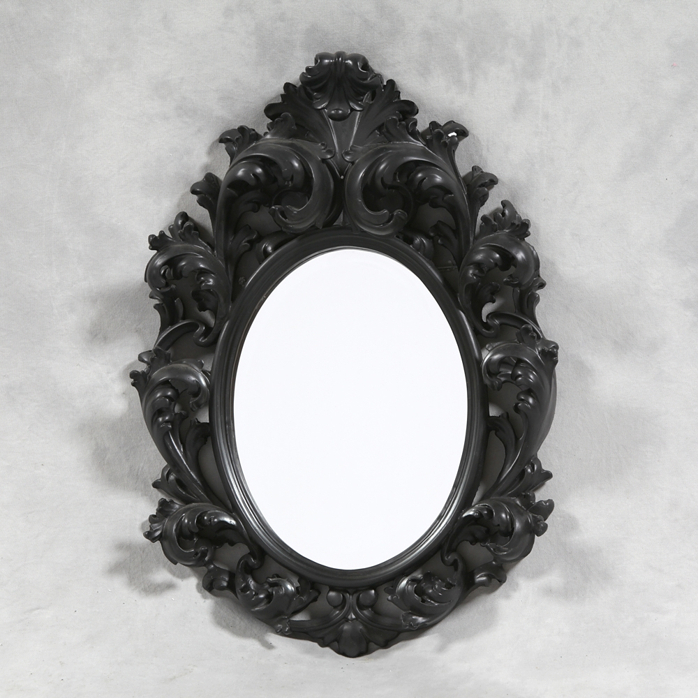 M83 Small Black Rococo Mirror Sanding Supplies And Executive Throughout Black Rococo Mirror (View 2 of 15)
