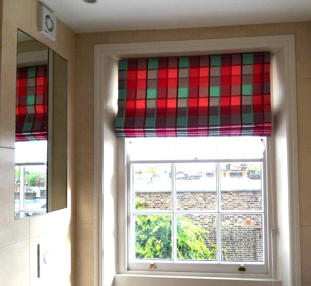 Made 2 Measure Blinds Haringey Ginas Soft Furnishings Within Handmade Roman Blinds (Image 8 of 15)