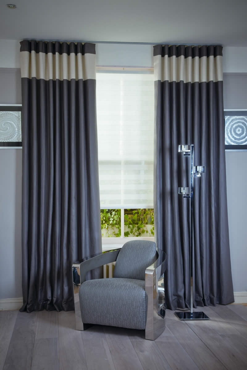 Made To Measure Roller Blinds London Bespoke Roller Blinds London In Voile Roman Blinds (Image 1 of 15)